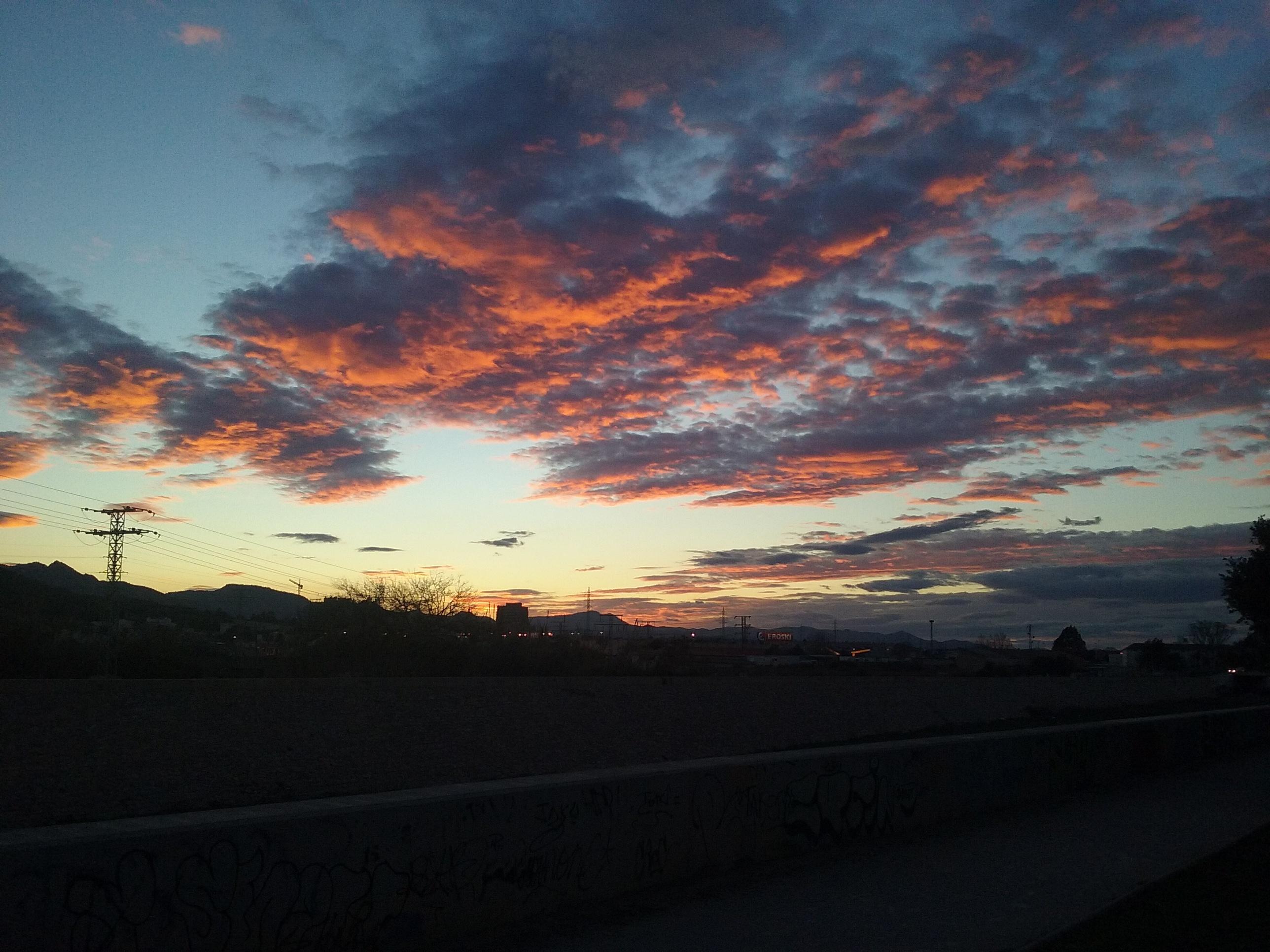 Wallpaper : pemandangan, langit, matahari terbenam 2576x1932