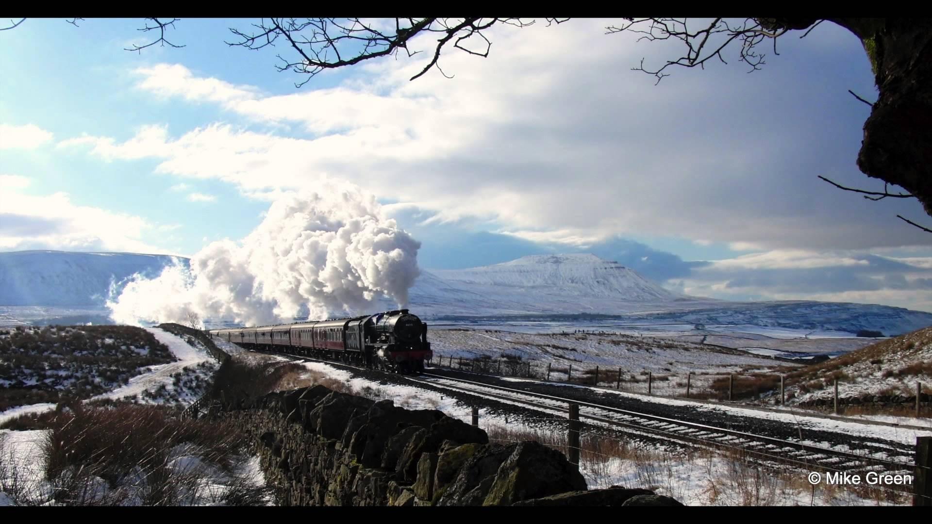 Wallpaper Landscape Snow Winter Train Steam Locomotive