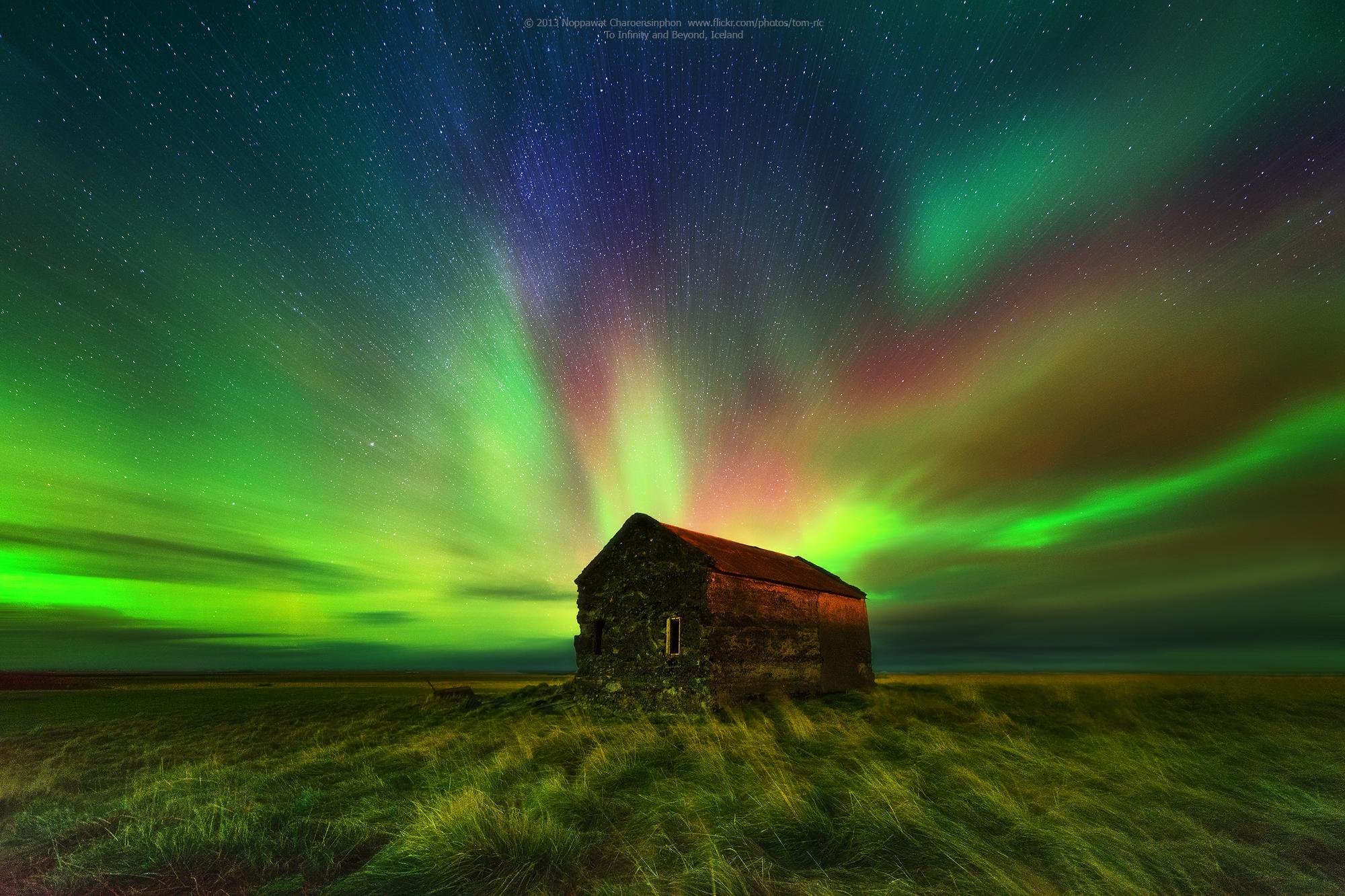 Sfondi paesaggio stelle verde freddo atmosfera for Sfondi aurora boreale