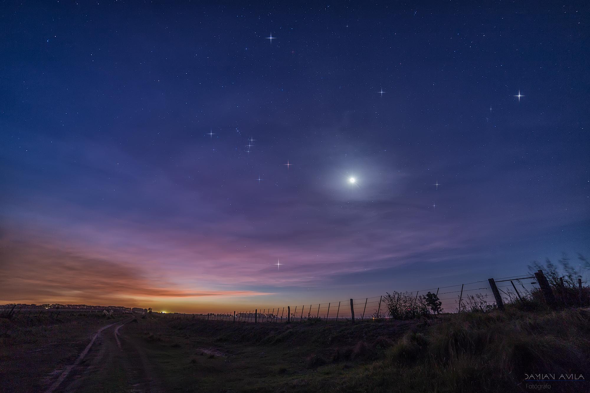 Fond d'écran : paysage, le coucher du soleil, nuit, ciel, étoiles, lever du soleil, Lune, soir ...
