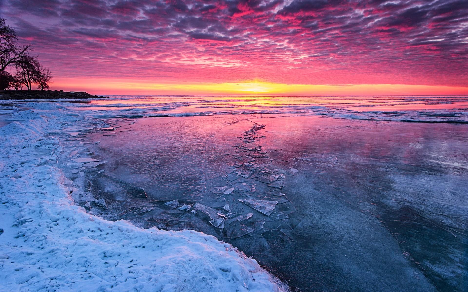 носом, подаренным фото море зимой рассвет видите