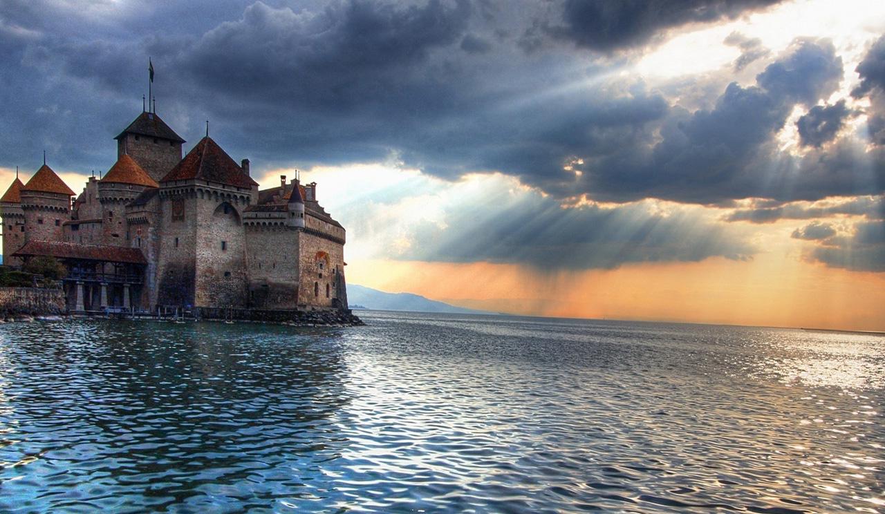 Sfondi paesaggio tramonto mare lago acqua for Wallpaper hd paesaggi