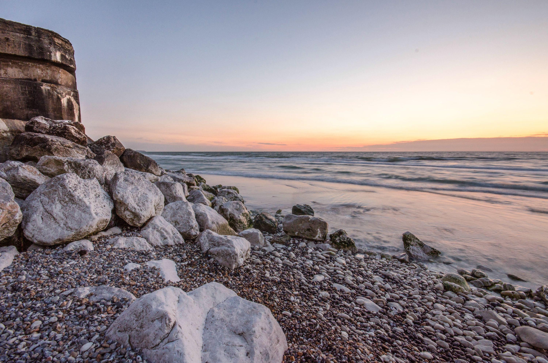 evening on calais beach