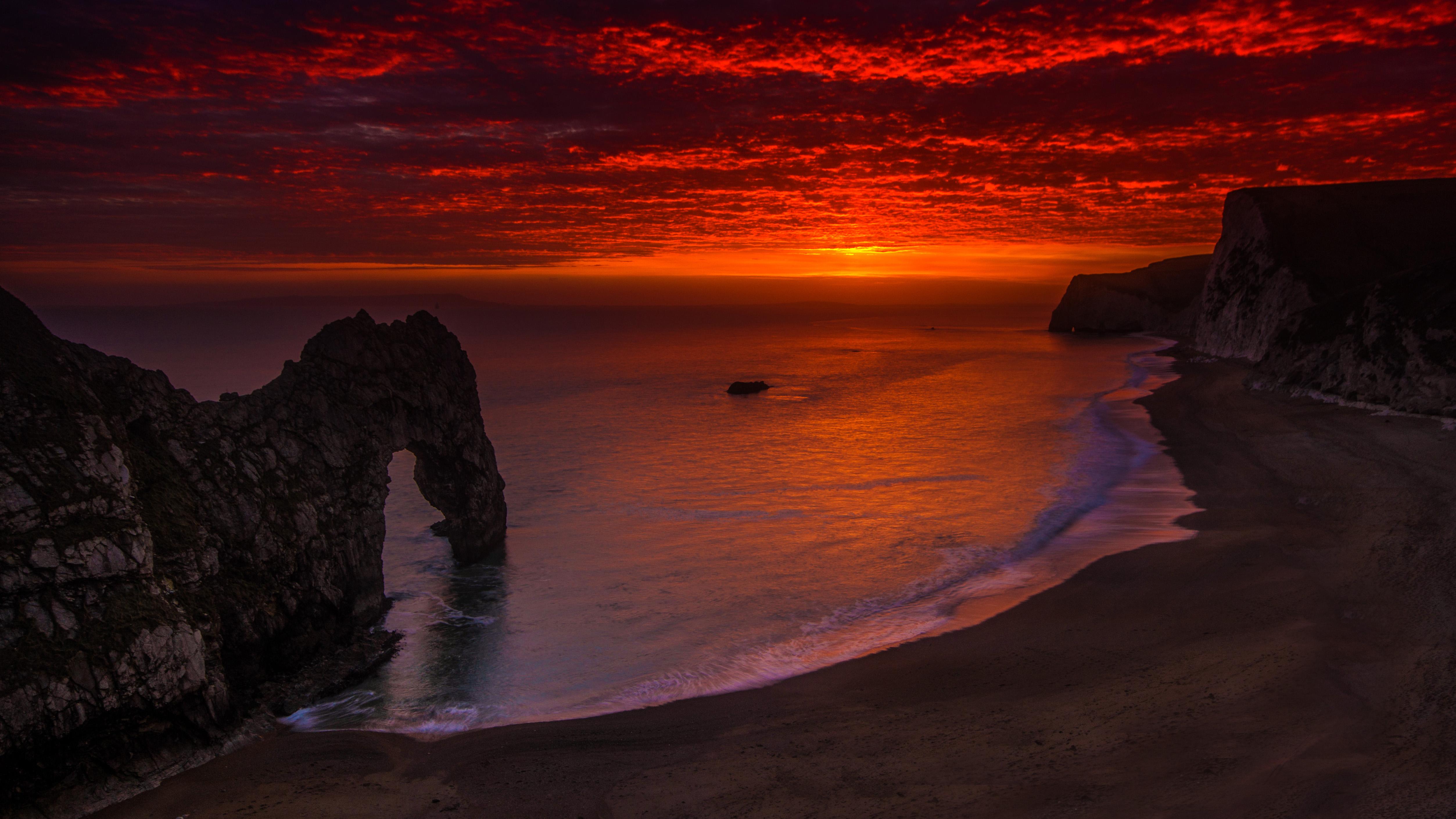 wallpaper landscape sunset sea water rock shore sand rh wallhere com