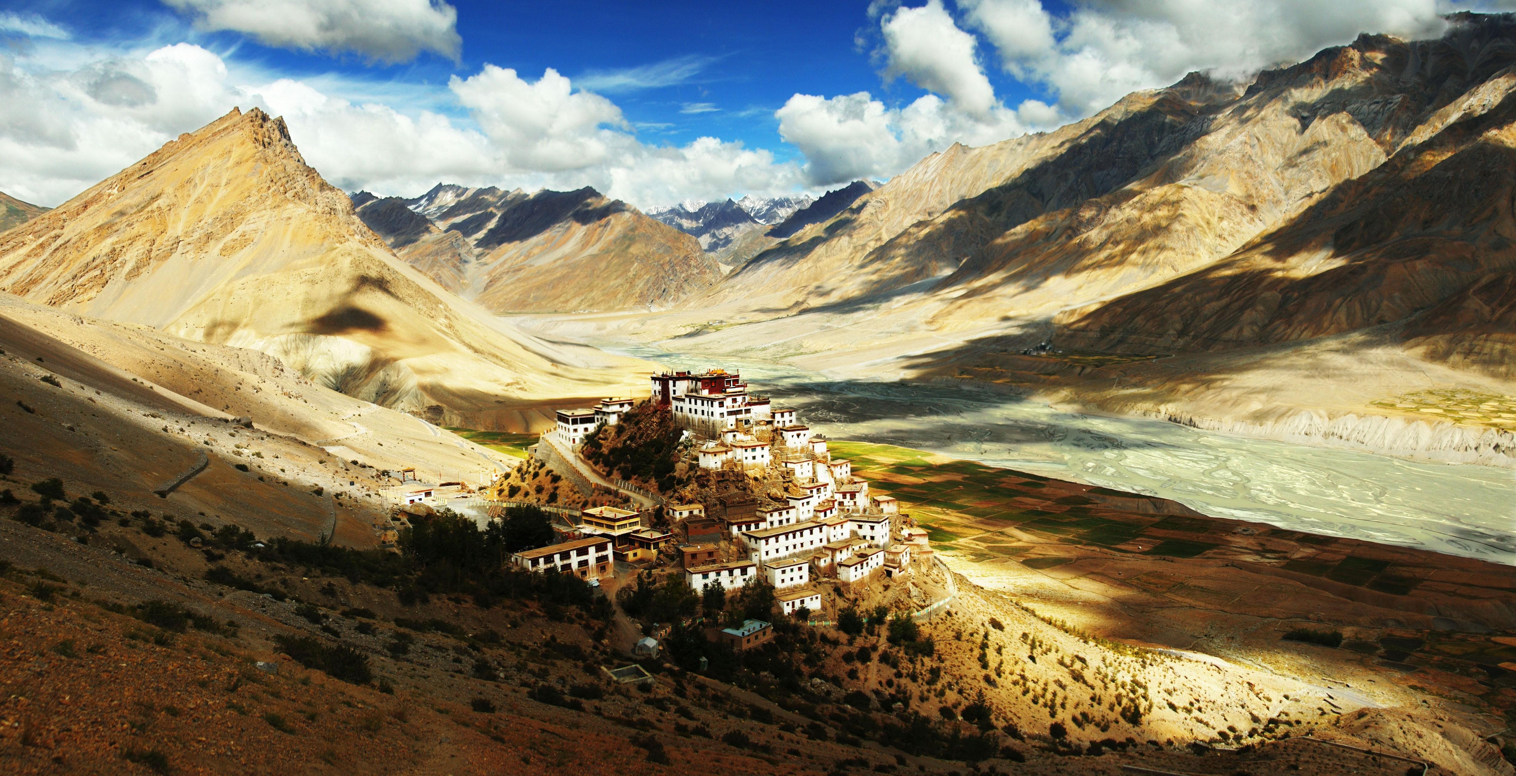 wallpaper : landscape, valley, wilderness, plateau, tibet, terrain