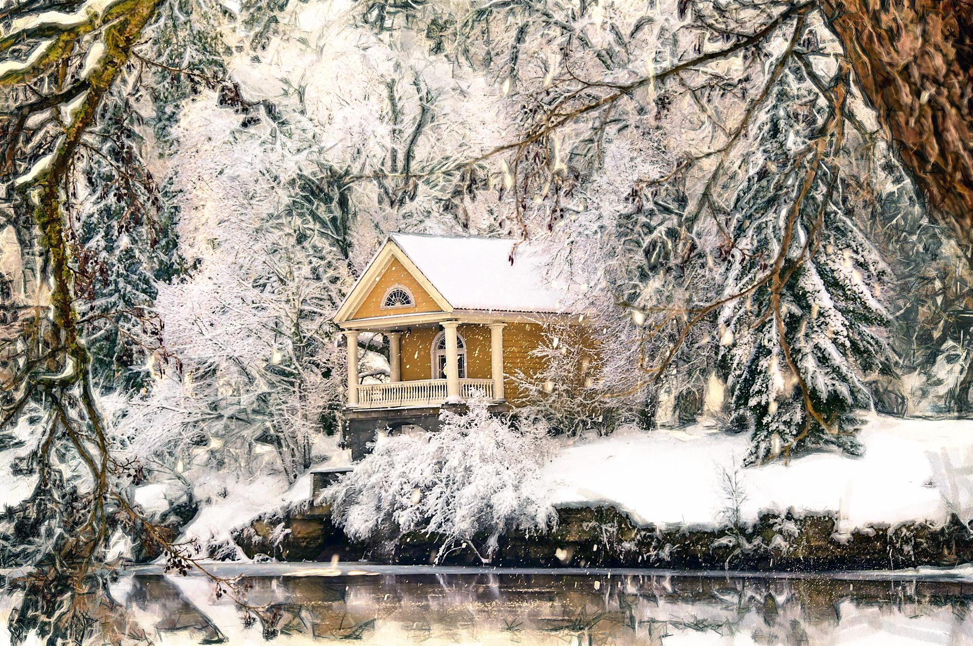 еще зимние пейзажи с домами картинки и фото данный момент основу