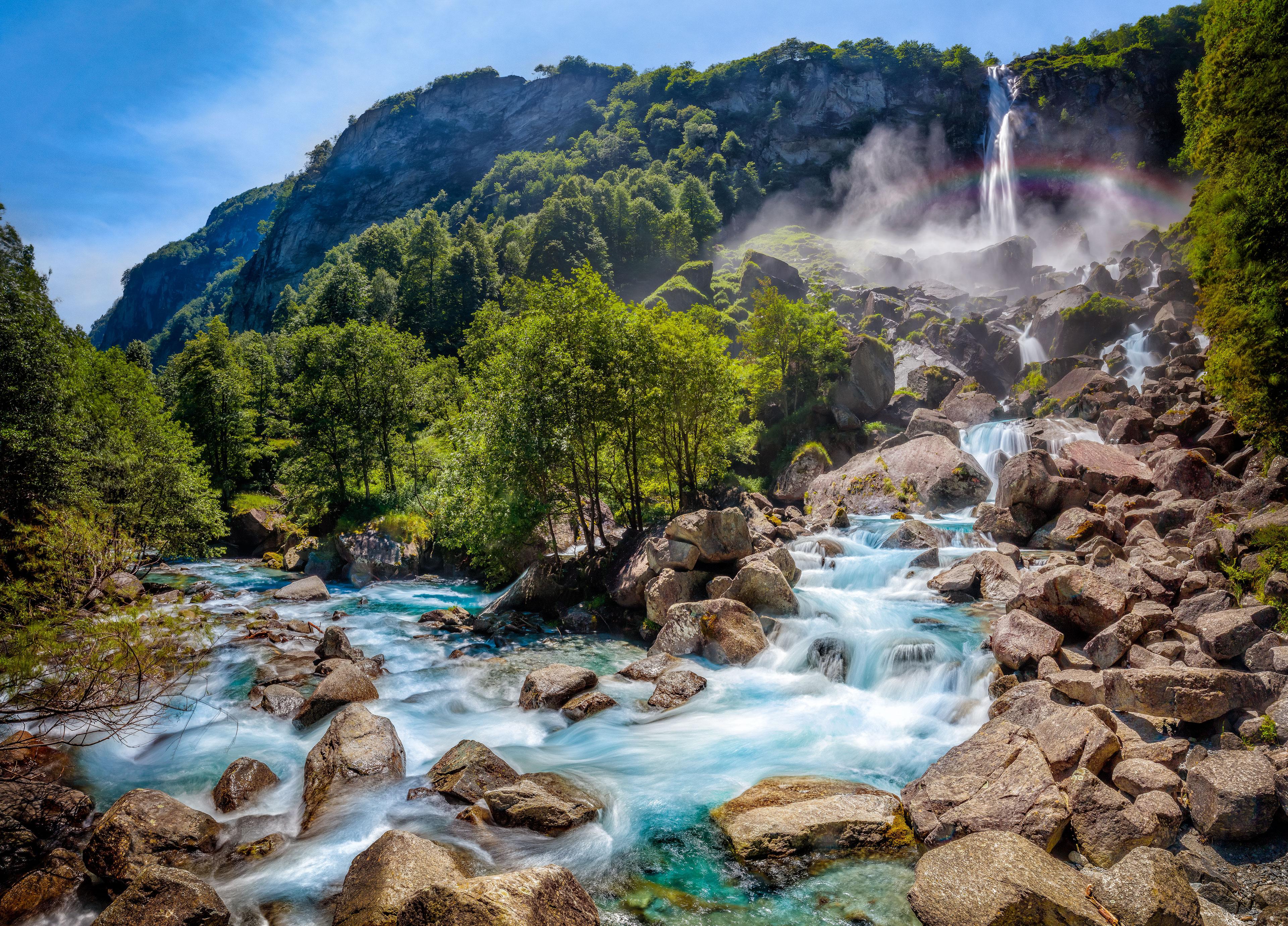 Горных пейзажей водопад картинки