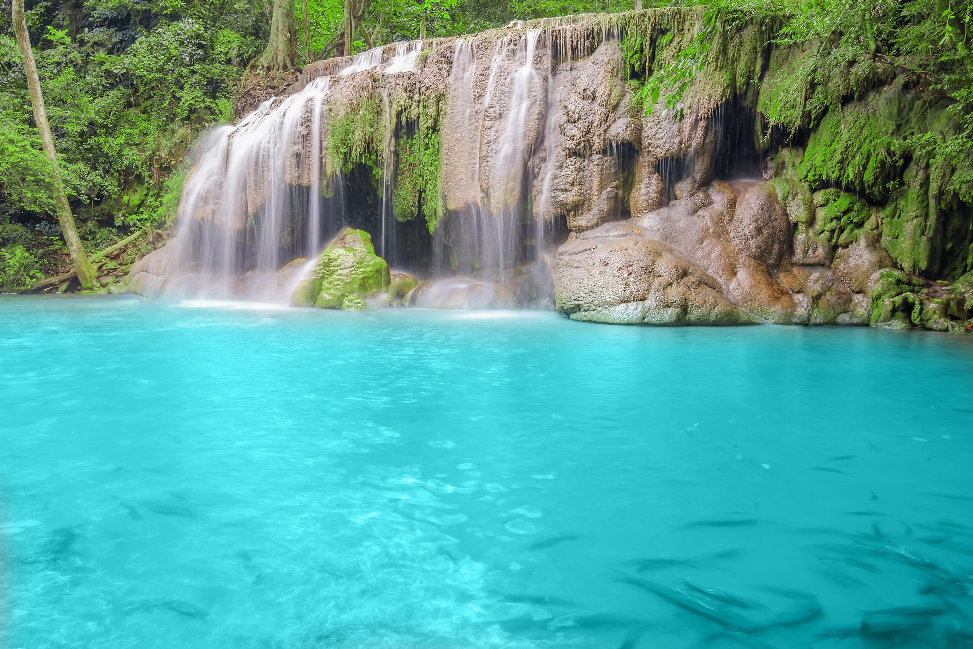 Paesaggi D Acqua Piscine sfondi : paesaggio, cascata, natura, piscina, laguna