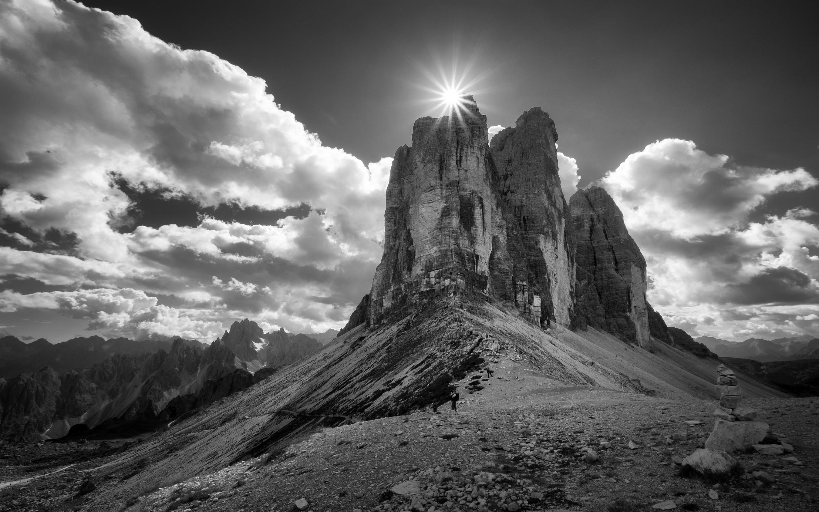 Sfondi paesaggio bianca montagne monocromo italia for Foto alta definizione bianco e nero