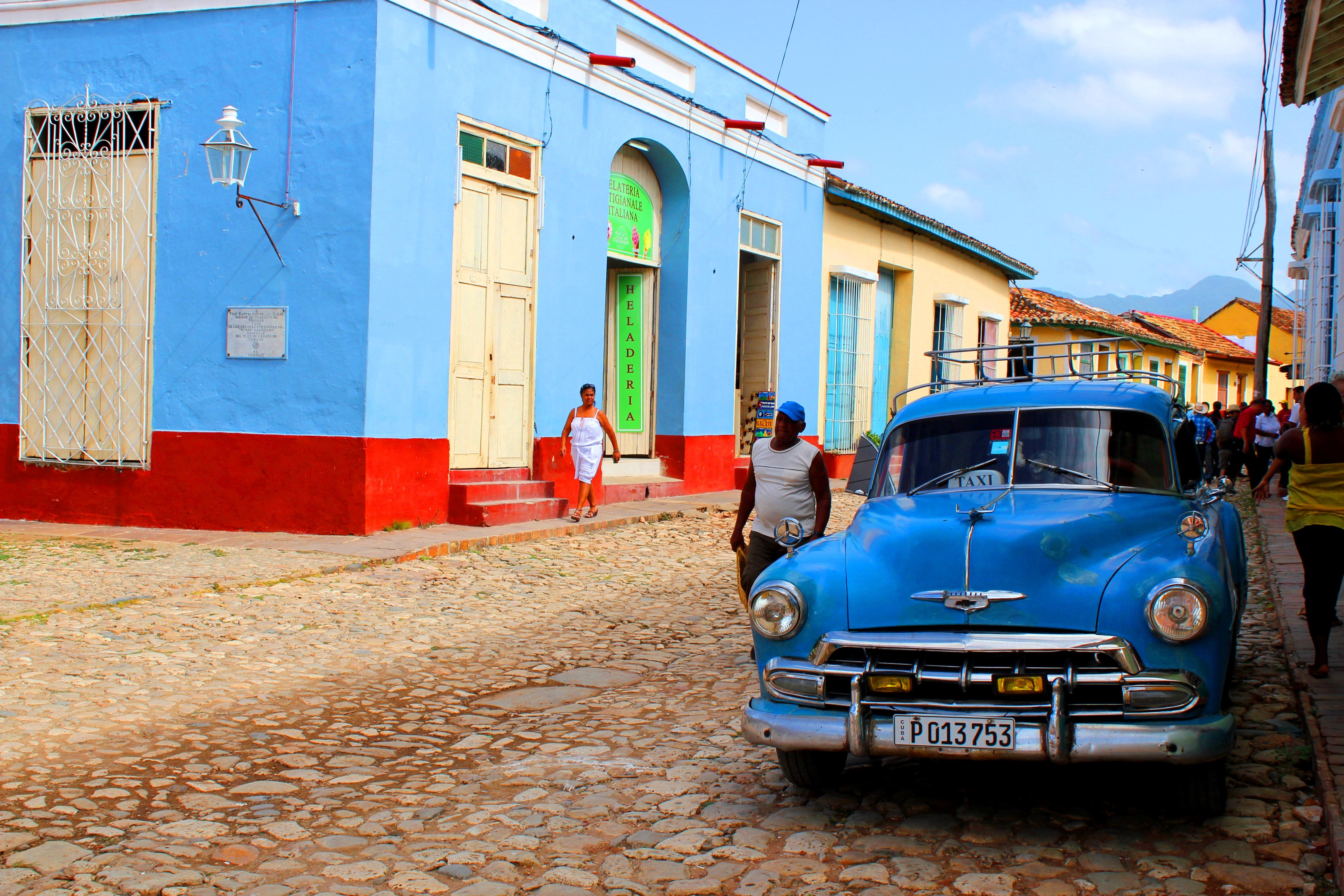 Wallpaper Life Morning Blue Cars 60s Colours Havana