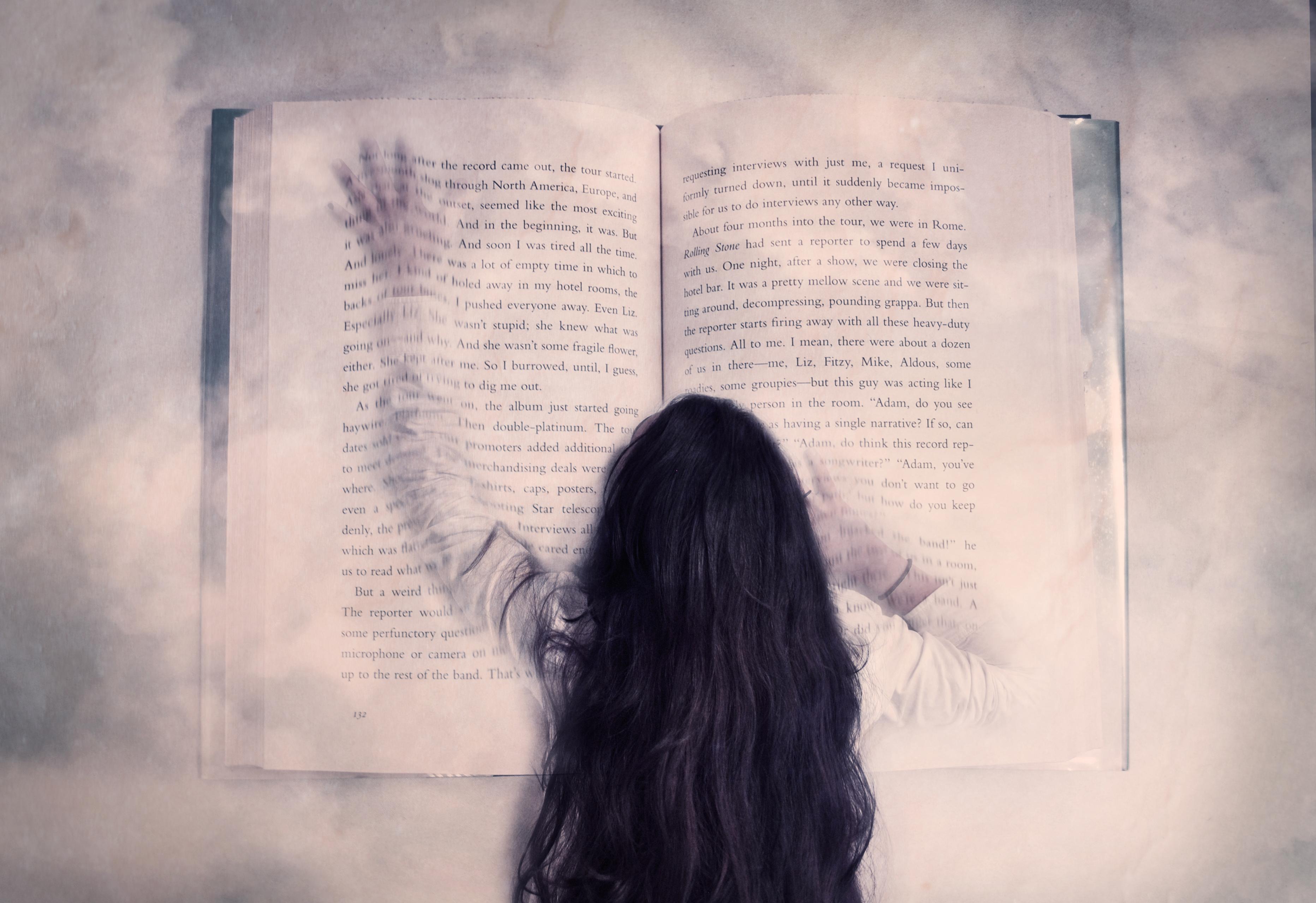 Wallpaper Life Portrait Art Love Girl Dark Reading