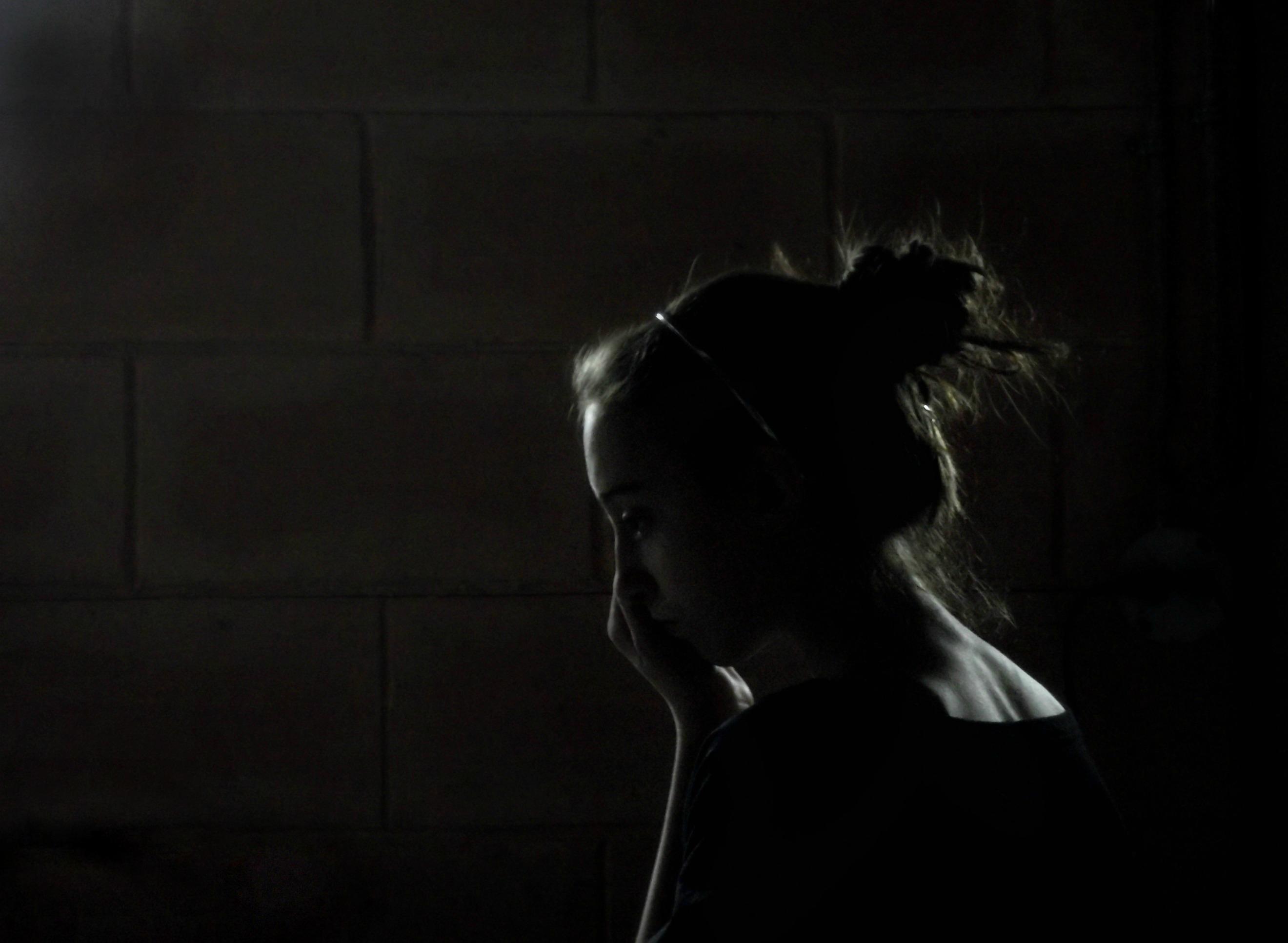 dark basement hd. Light Brick Leave Me Girl Dark Hair Back Alone Basement Hd