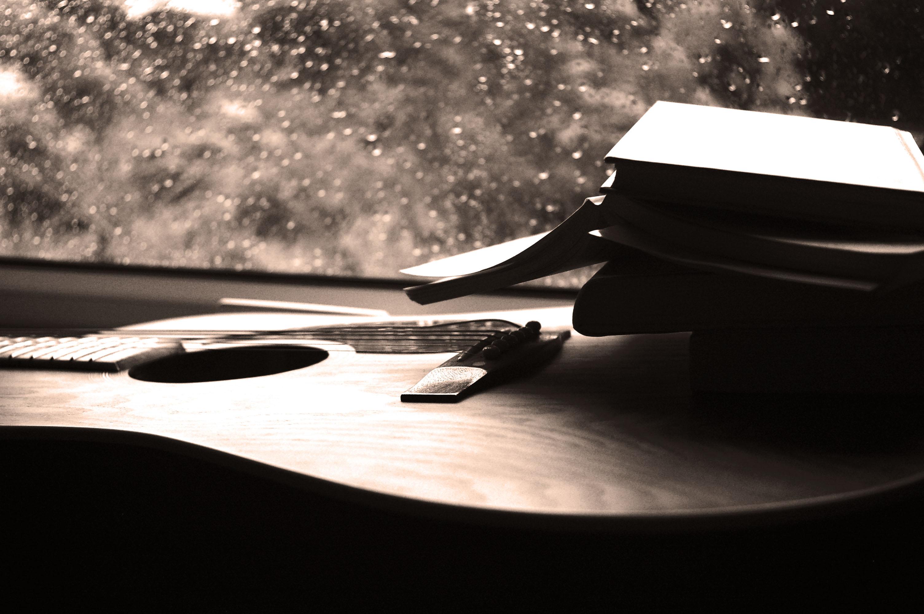 изготовления картинки дождь под гитару чередование слоев
