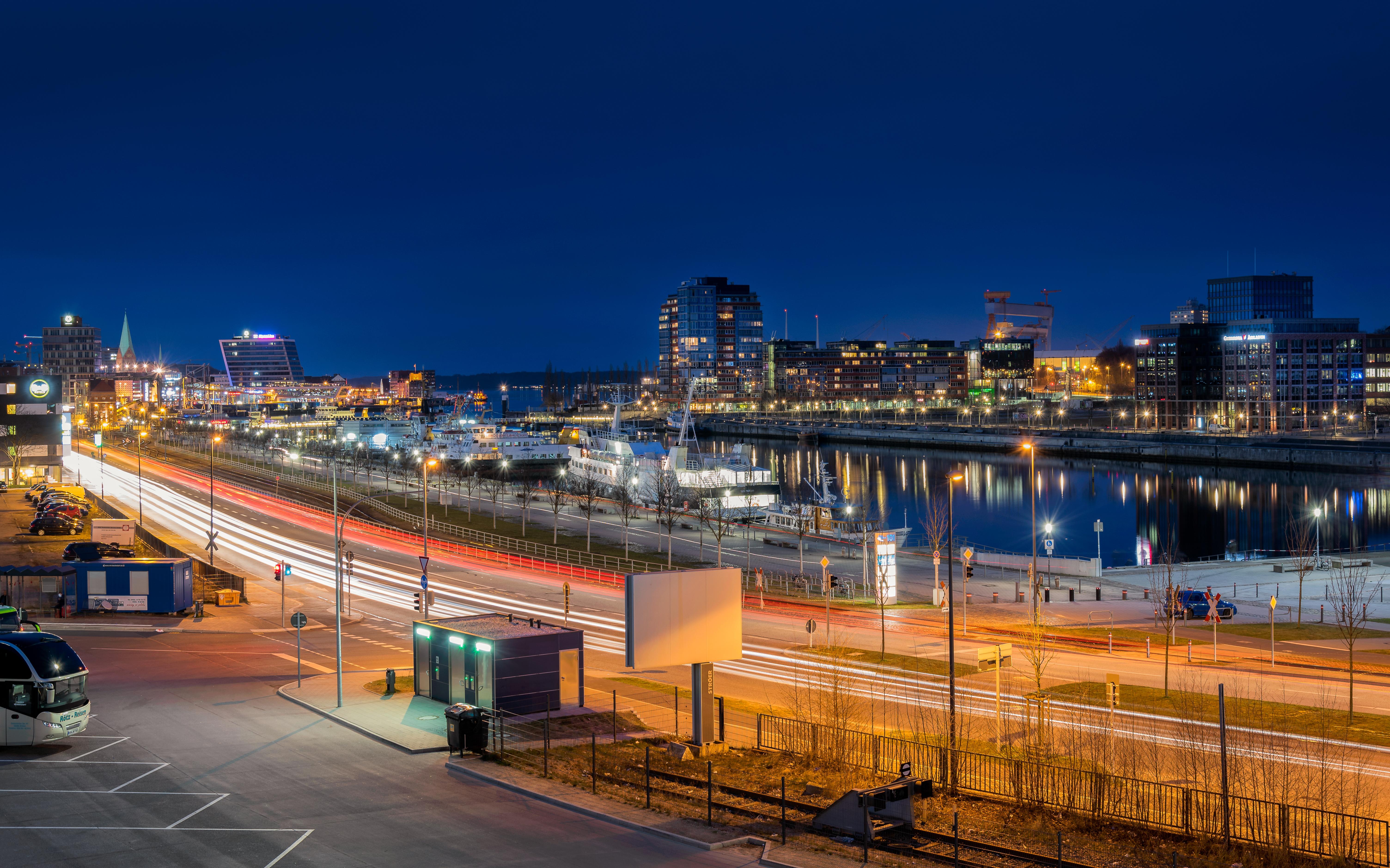 Kiel Architektur hintergrundbilder licht wasser die architektur nacht