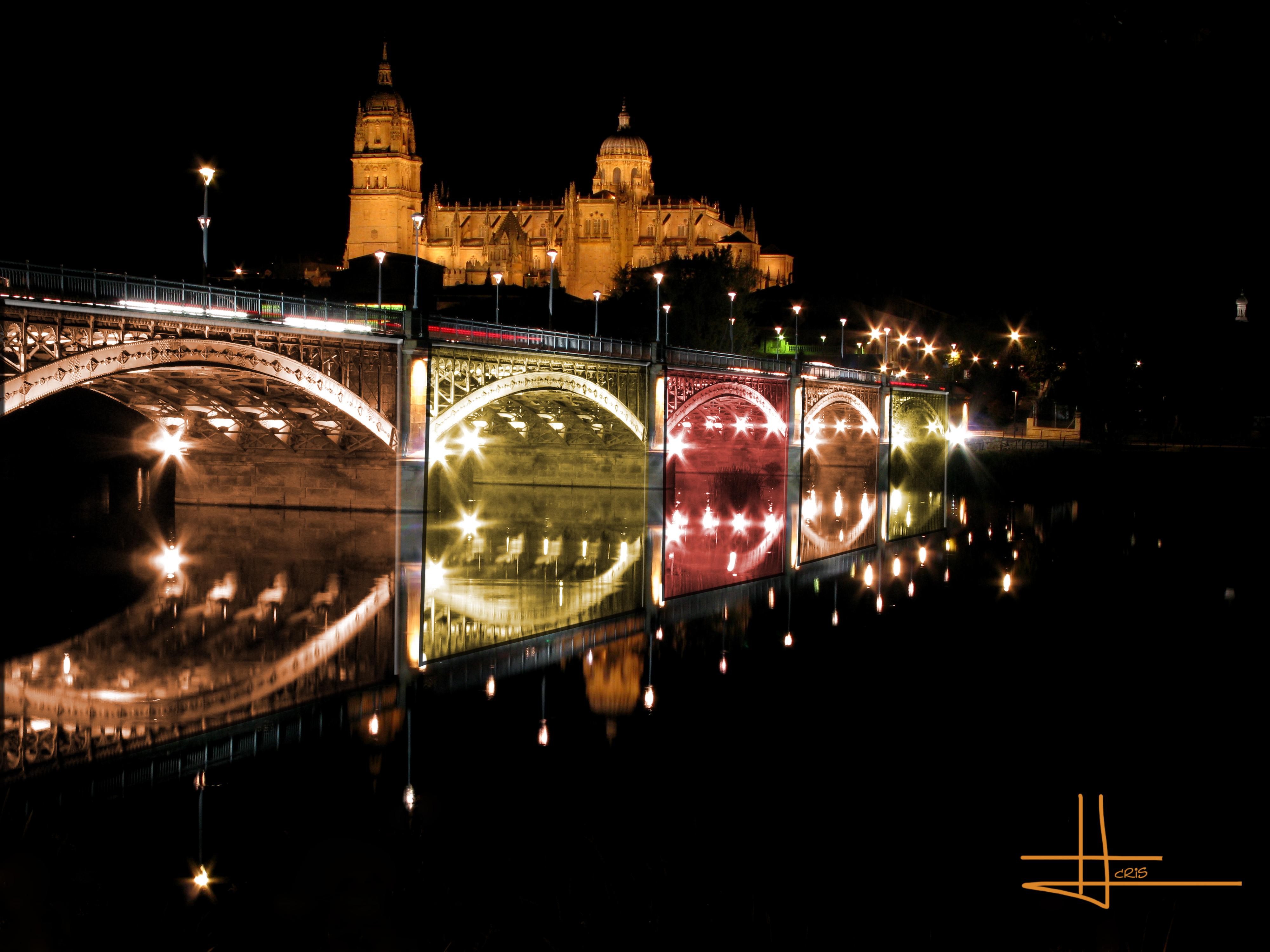 Wallpaper Lighting Bridge Detalle Art Water Glass