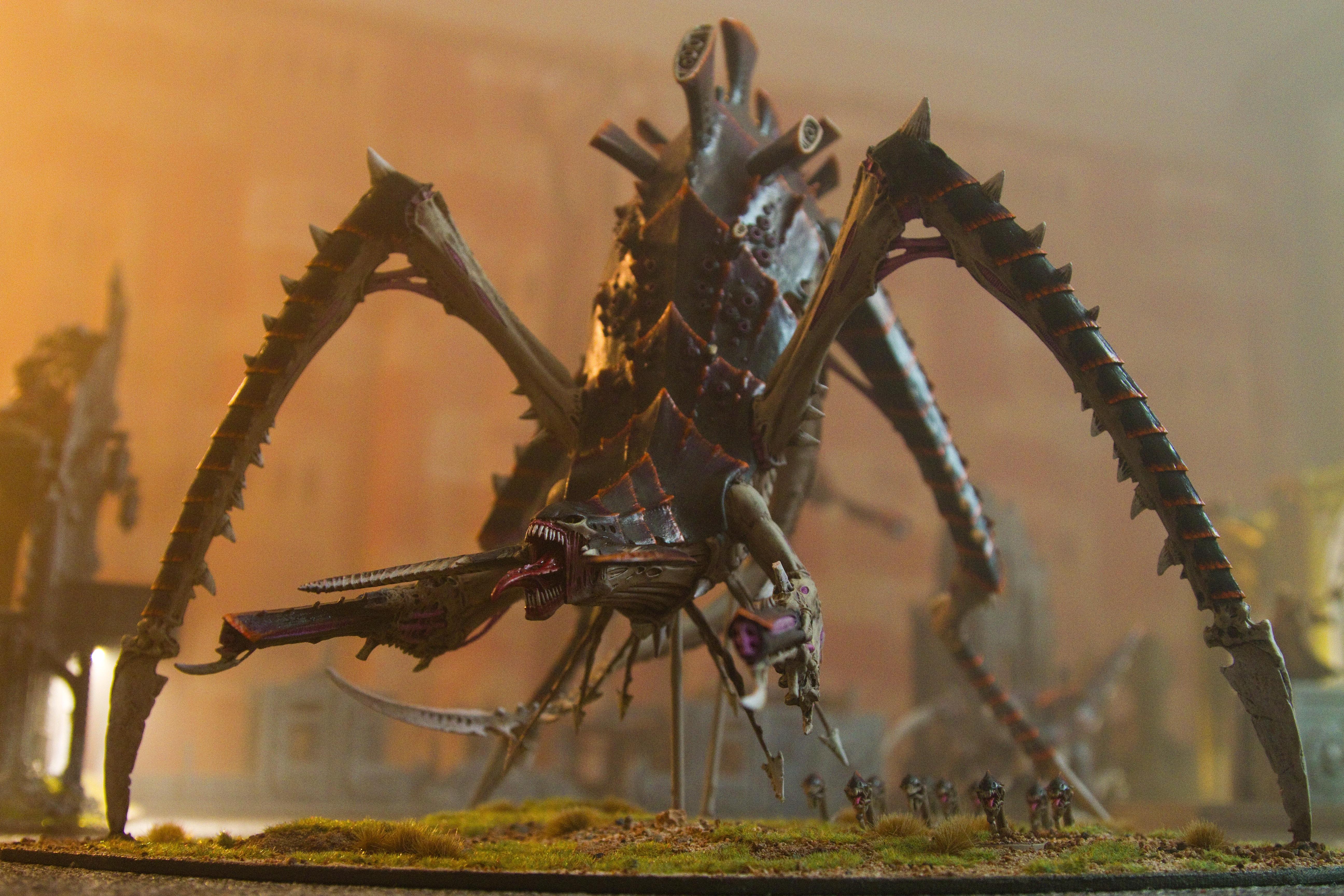 lighting light fog smoke atmosphere bio games 40k workshop Warhammer titan  wargame atmospheric 40000 tyranid wargaming
