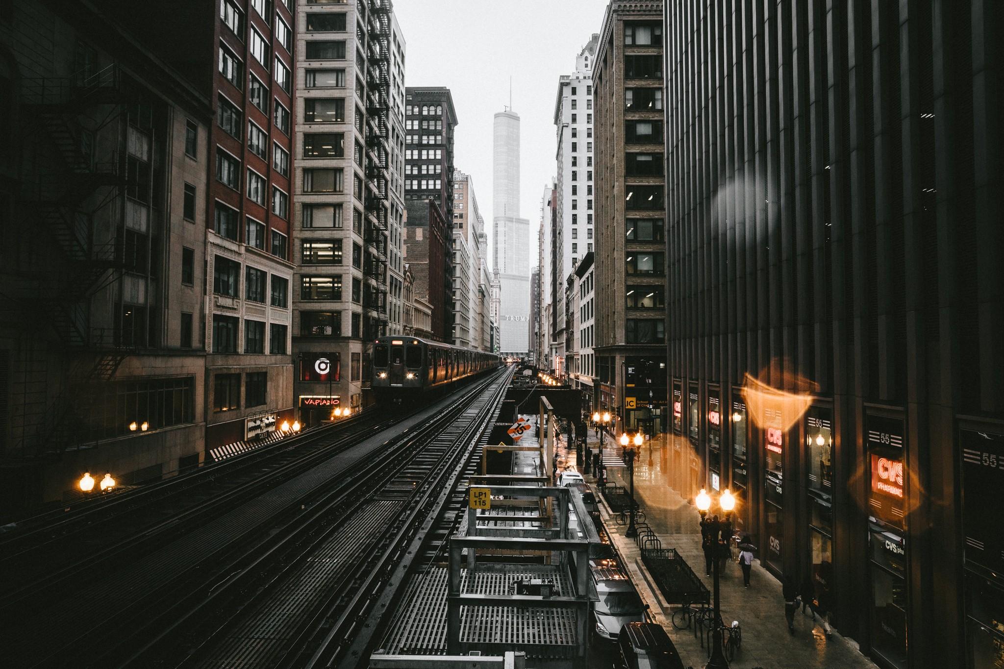 Обои уличные, buildings, lights, street, зданий. Города foto 15