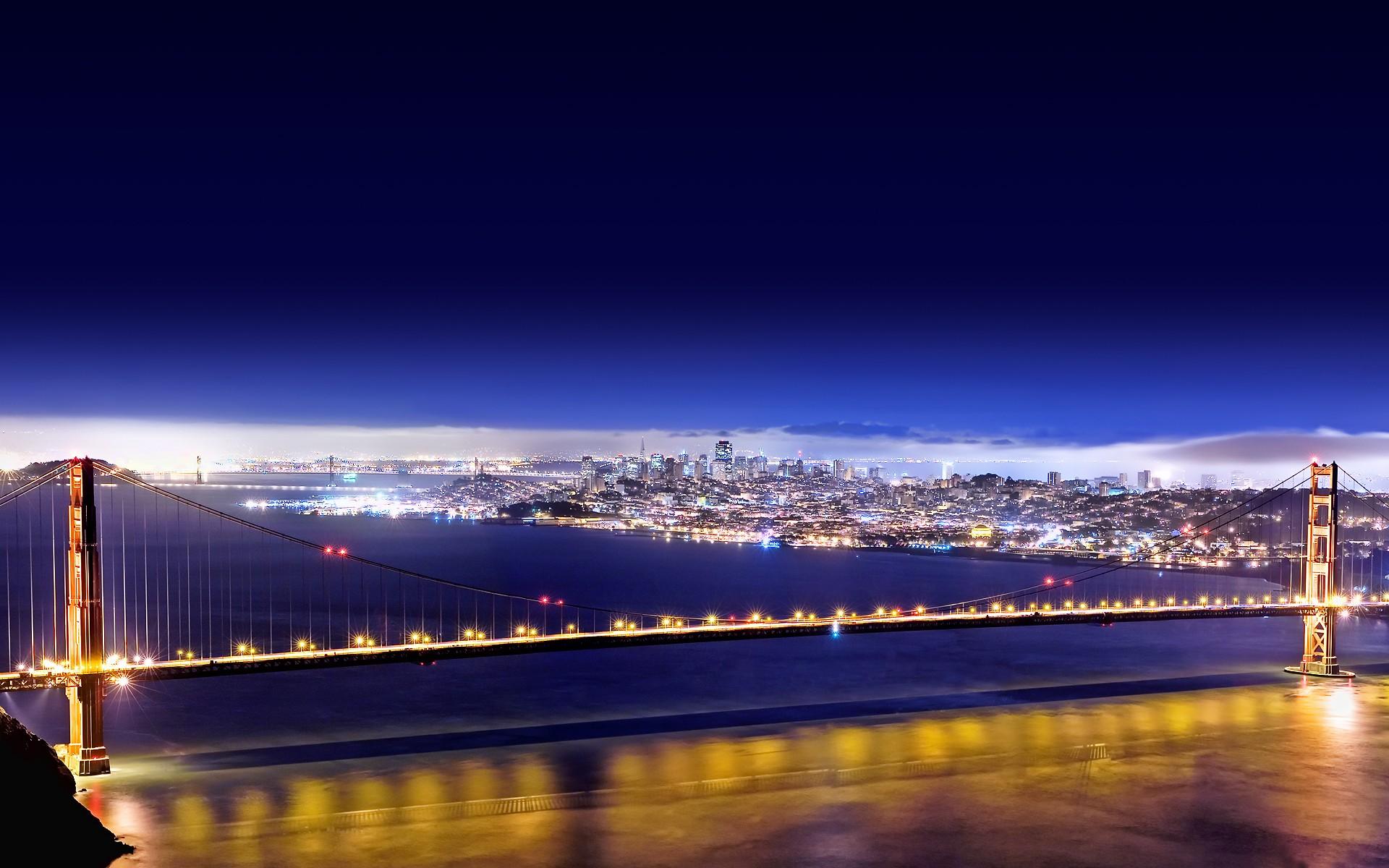 Great Wallpaper Night Golden Gate Bridge - lights-cityscape-night-reflection-skyline-skyscraper-evening-bridge-San-Francisco-horizon-panorama-Golden-Gate-Bridge-dusk-light-dawn-landmark-254423  Perfect Image Reference-93917.jpg
