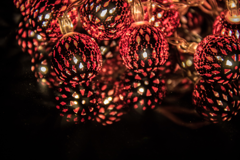 Weihnachtsbeleuchtung Bunt.Hintergrundbilder Beleuchtung Bunt Rot Betrachtung Ast