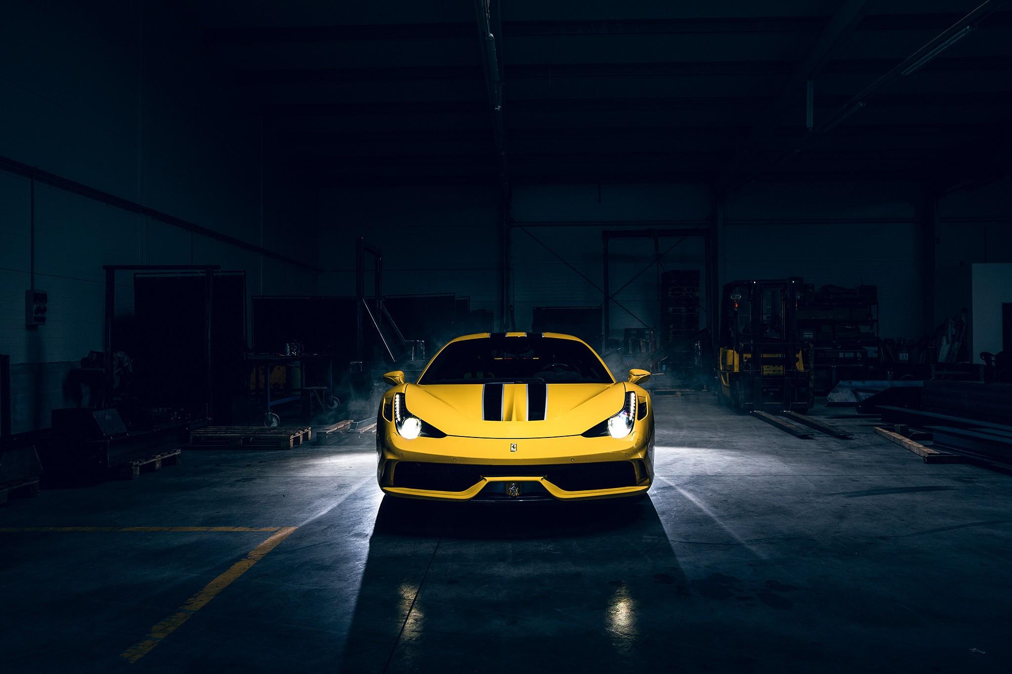 Wallpaper Lights Dark Supercars Vehicle Front Lamborghini