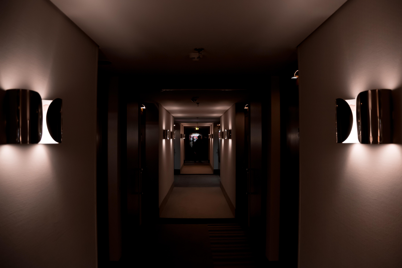 Lights Dark Hallway Hotel Lamp Nikon Interior Design Elevator Light Lighting Floor Hall Darkness Doors Center