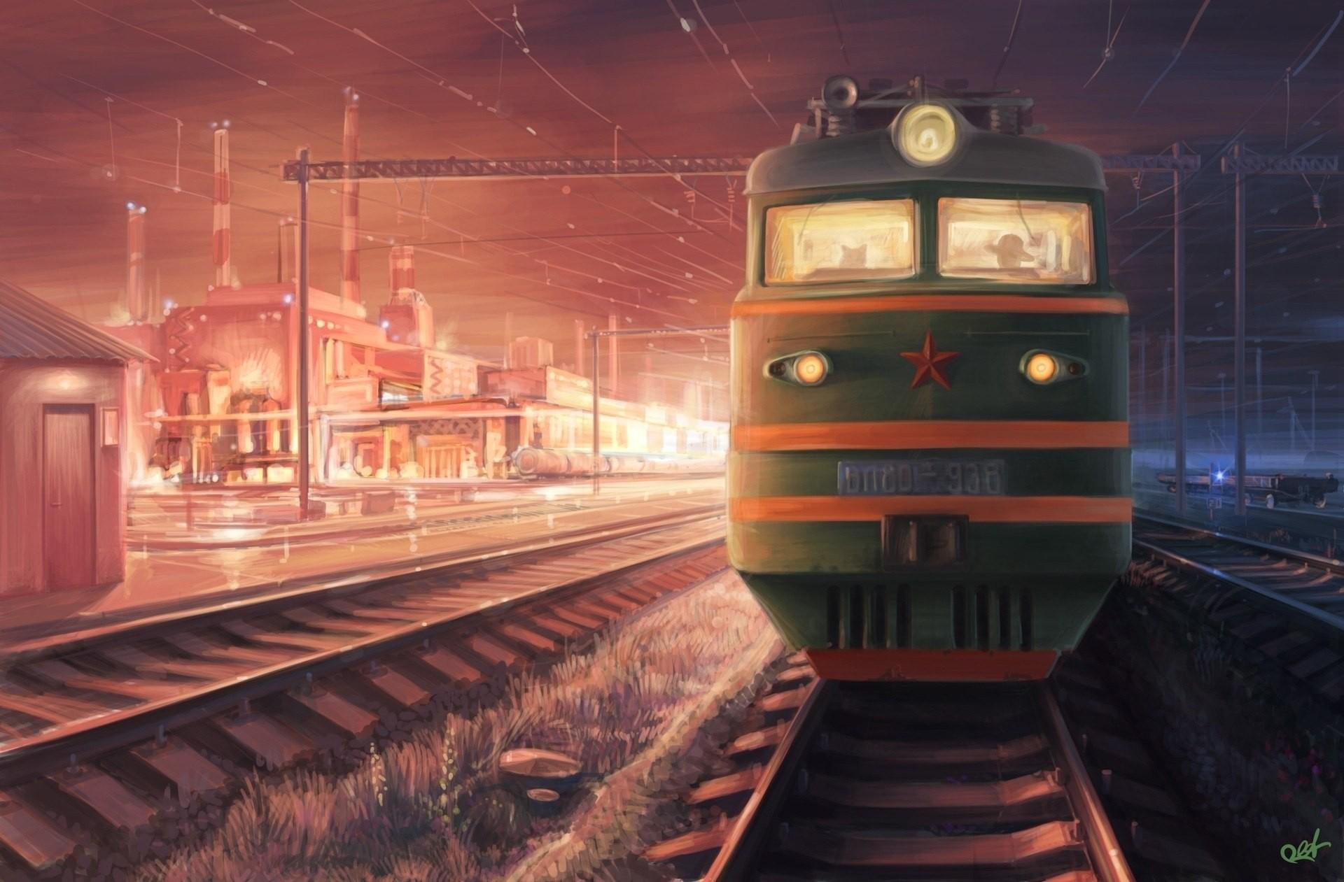 обои поезда вертикальные как раз