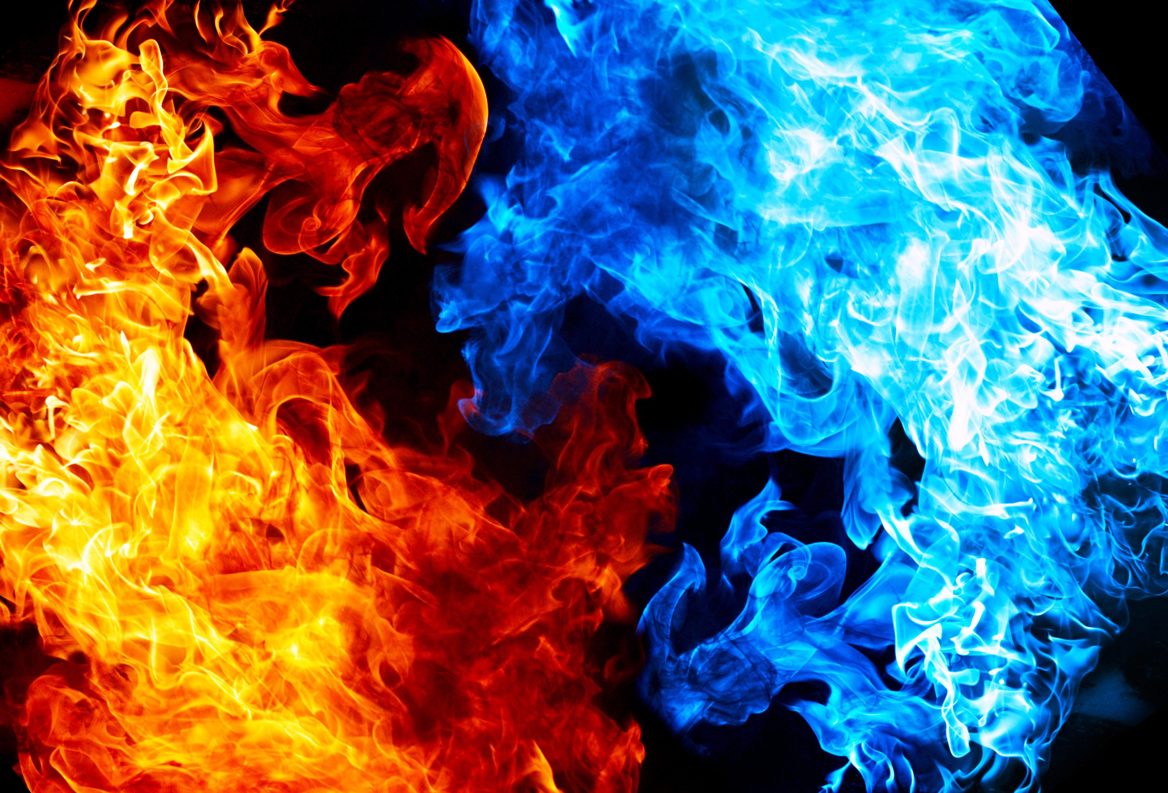 Fiery Treble Clef In Rainbow Flames: Wallpaper : Lights, Flames, Black Background 3871x2628