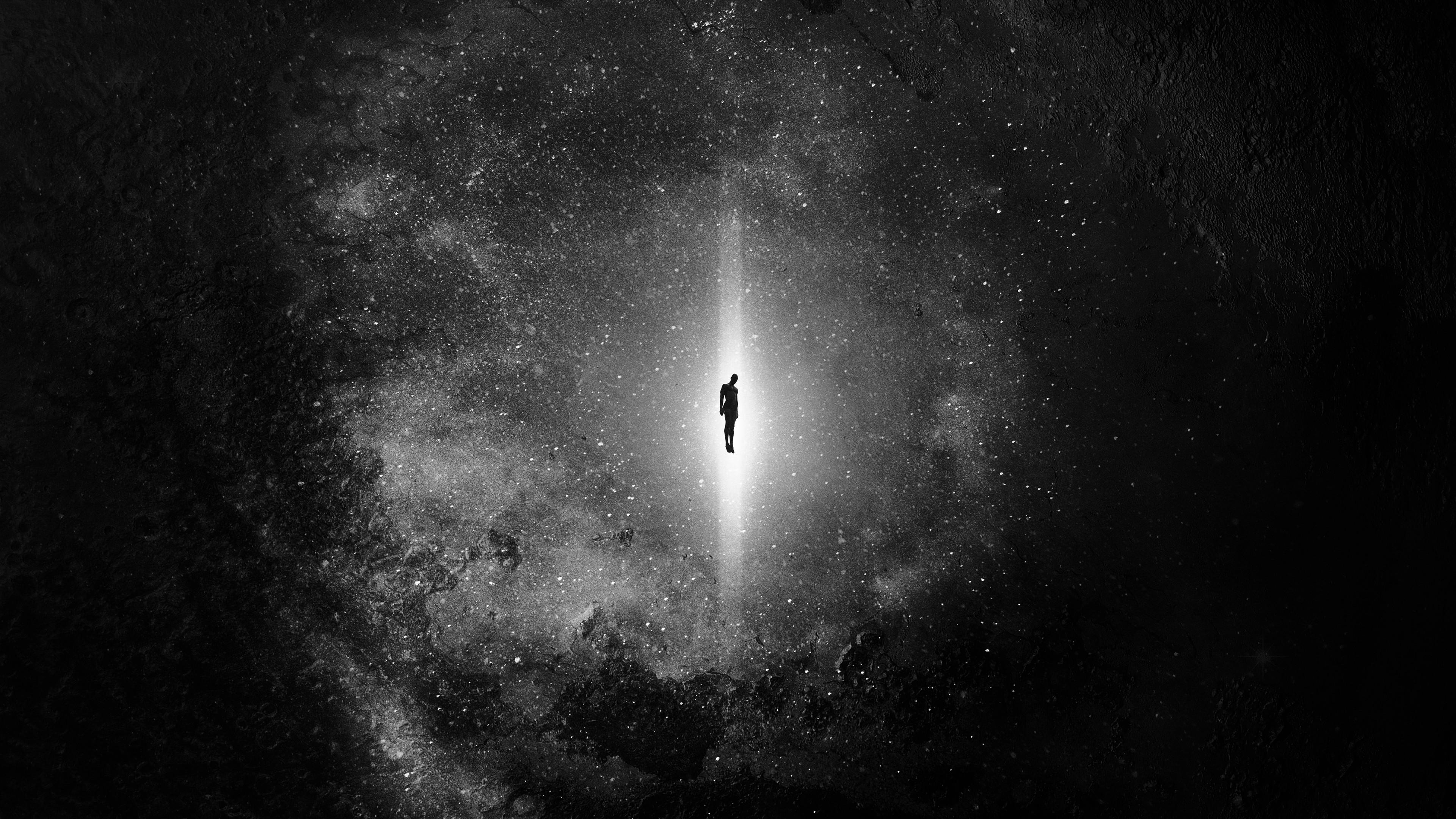 Ч б картинка космос
