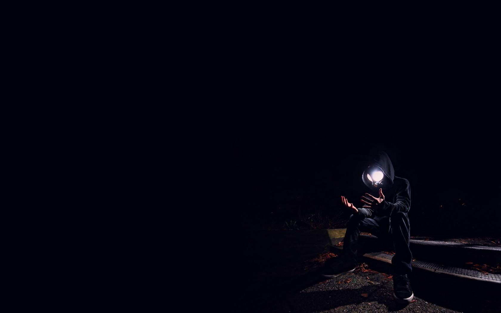 Lights People Black Dark Night Gas Masks Void Light Darkness Screenshot Computer Wallpaper