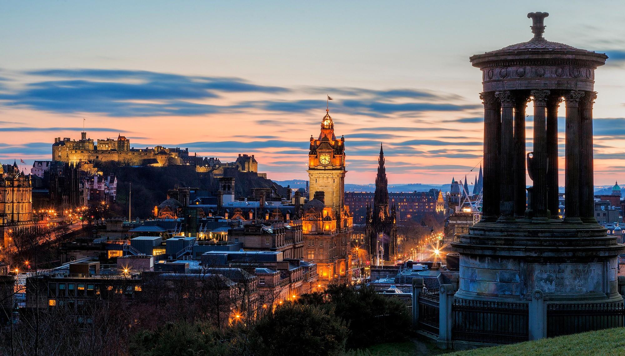 Обои замок, холм, эдинбург, edinburgh, Шотландия. Пейзажи foto 11