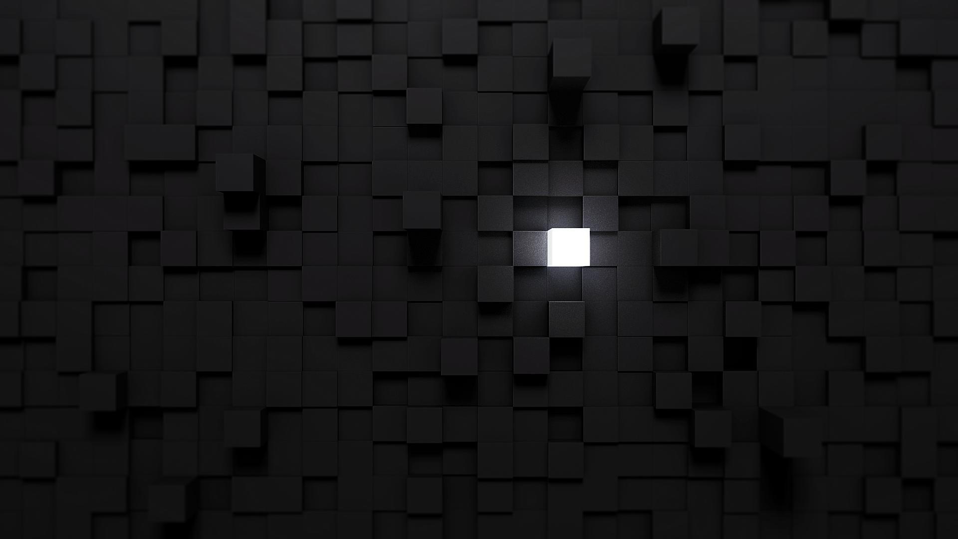 Wallpaper : lights, white, black, monochrome, minimalism, symmetry, cube, pattern, texture ...