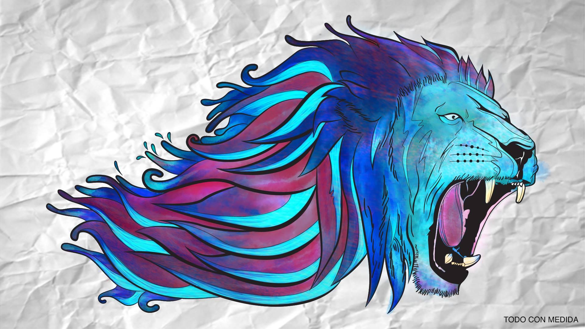 Wallpaper Lion Paper 1920x1080 Elyego 1504403 Hd