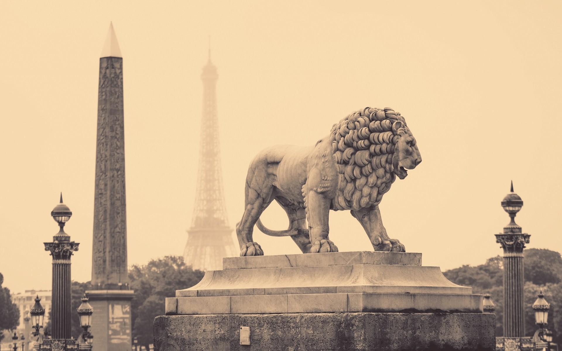 Wallpaper Lion Statue Street City France Paris Black And White 1920x1200 685682 Hd Wallpapers Wallhere