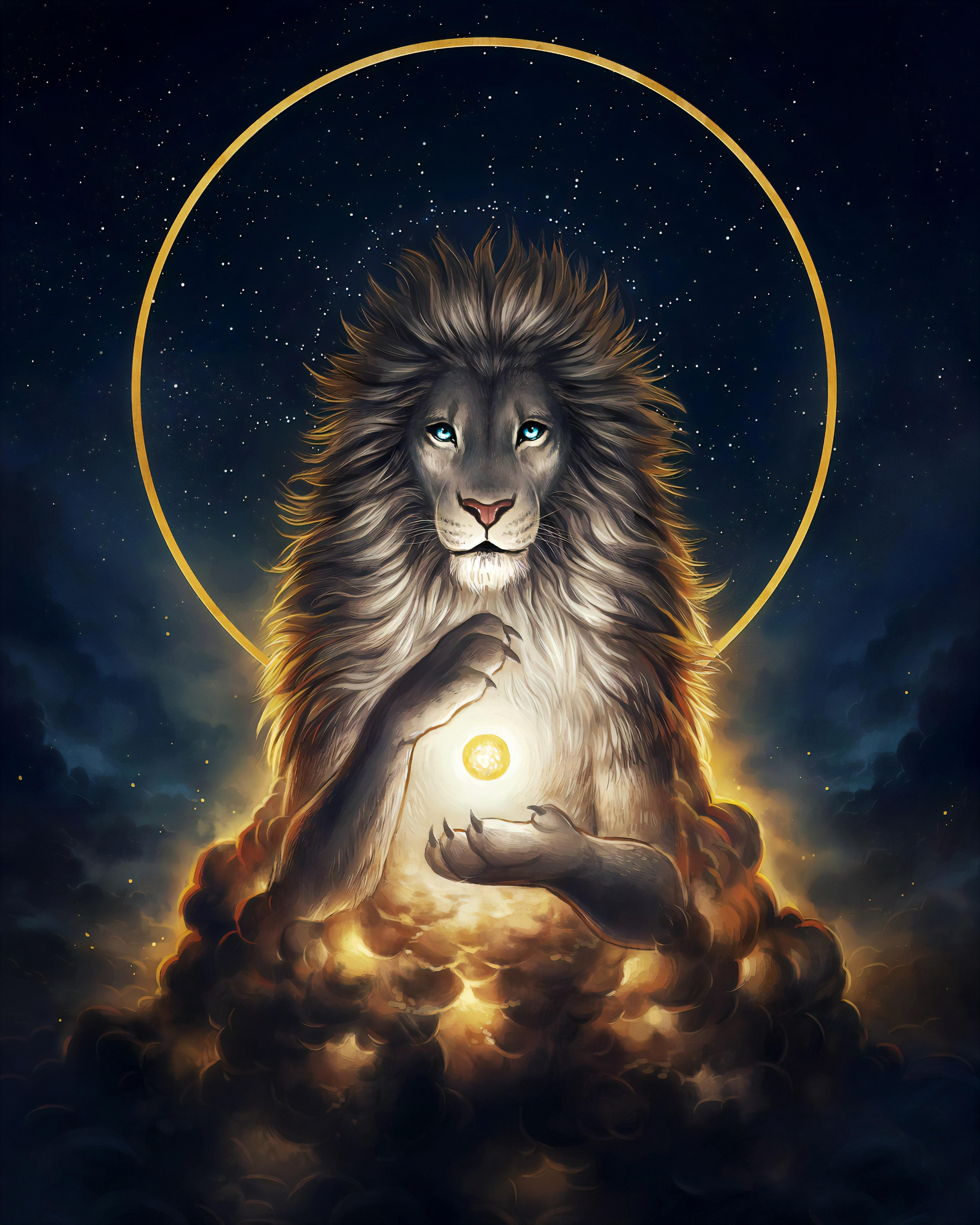 Wallpaper White Lion White Hair Blue Eyes Jonas Jodicke