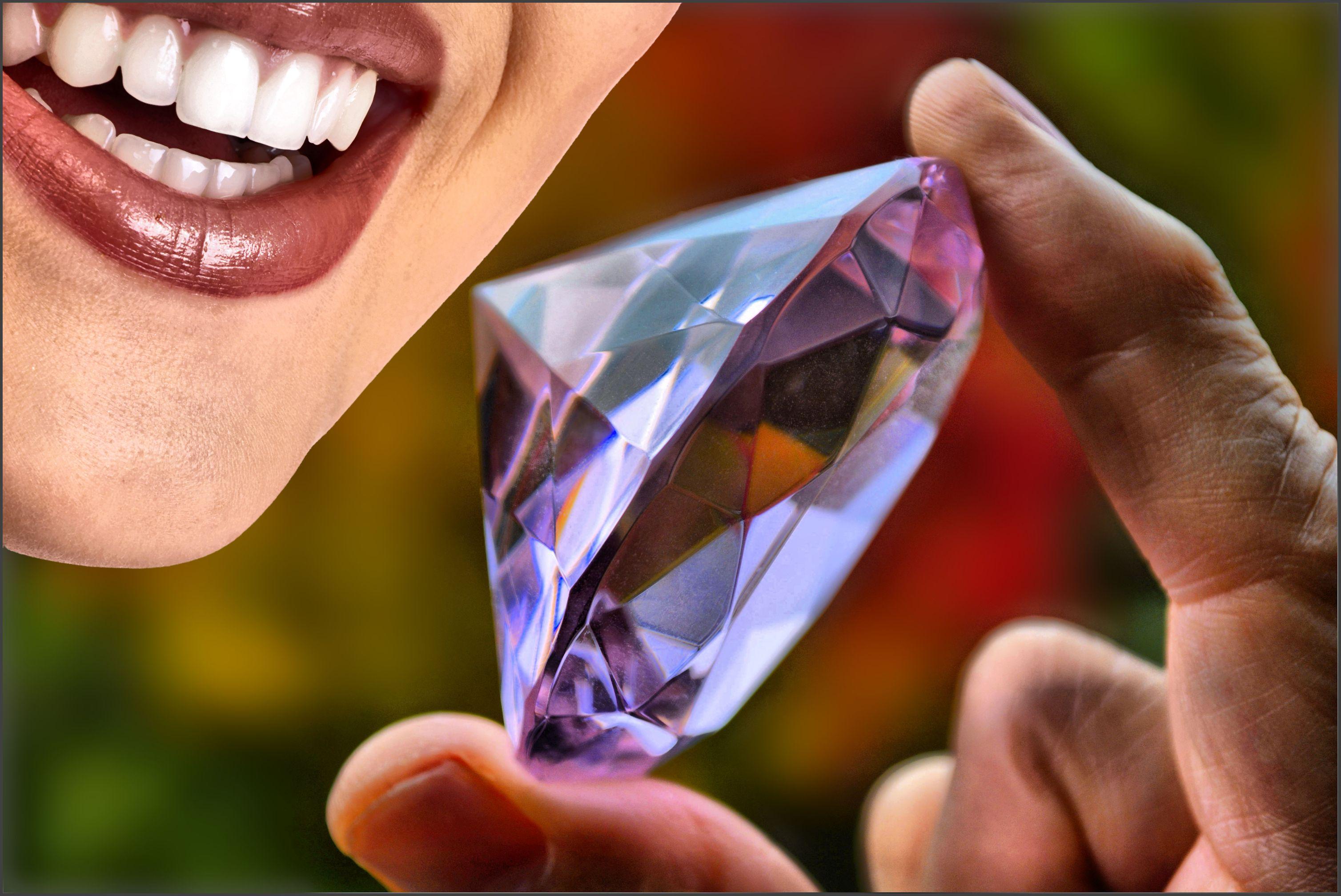 Wallpaper Lips Teeth Mouth Bokeh Happy Hand Nail Female