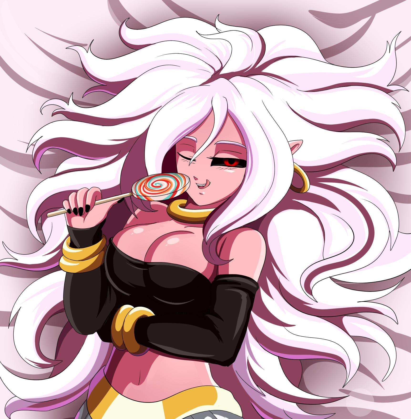 Wallpaper Manisan Rambut Panjang Wanita Dragon Ball Fighterz Berbaring Telentang Melihat Viewer Android 21 Majin Android 21 1724x1760 Optifine 1333887 Hd Wallpapers Wallhere