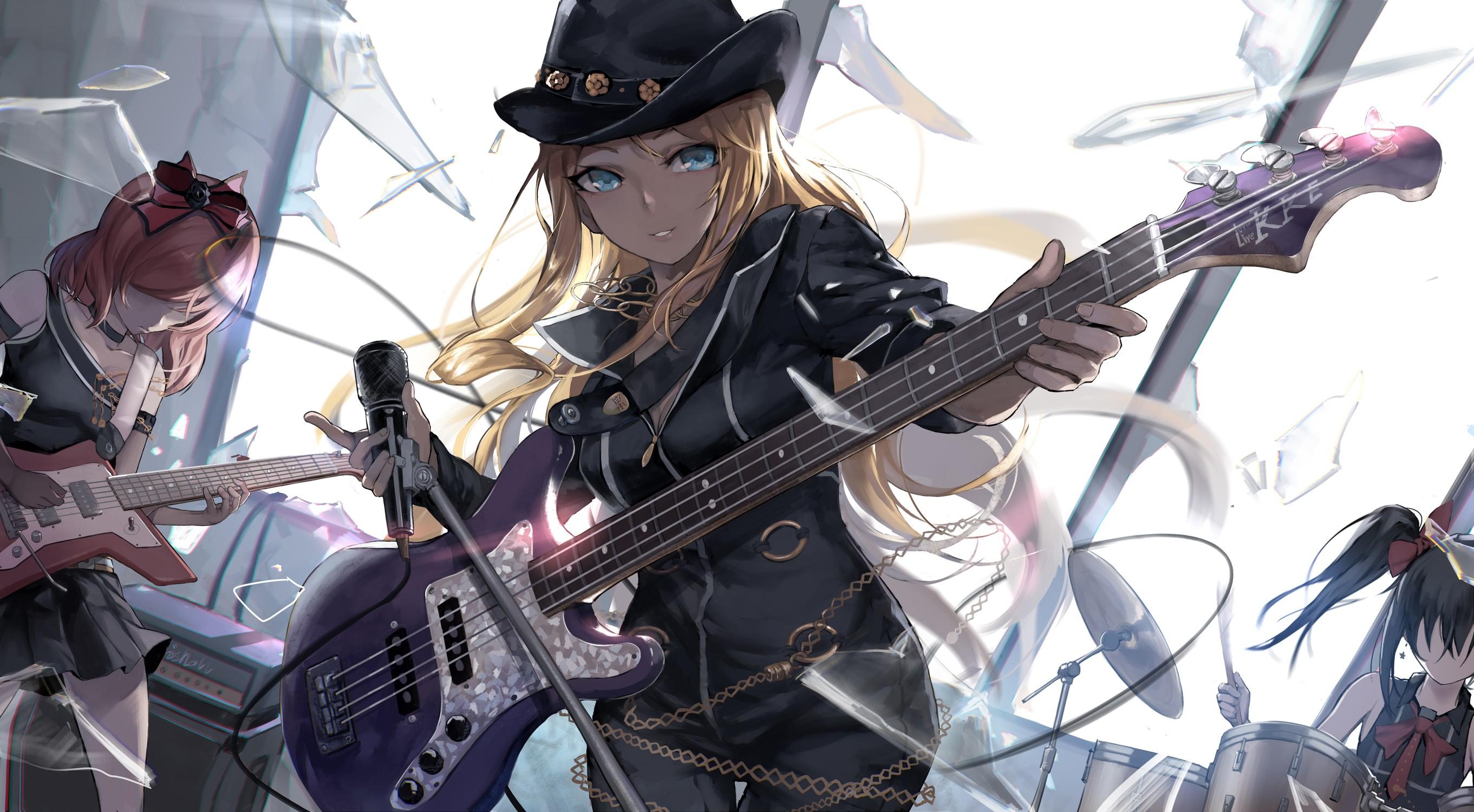 Картинки аниме девушек рок