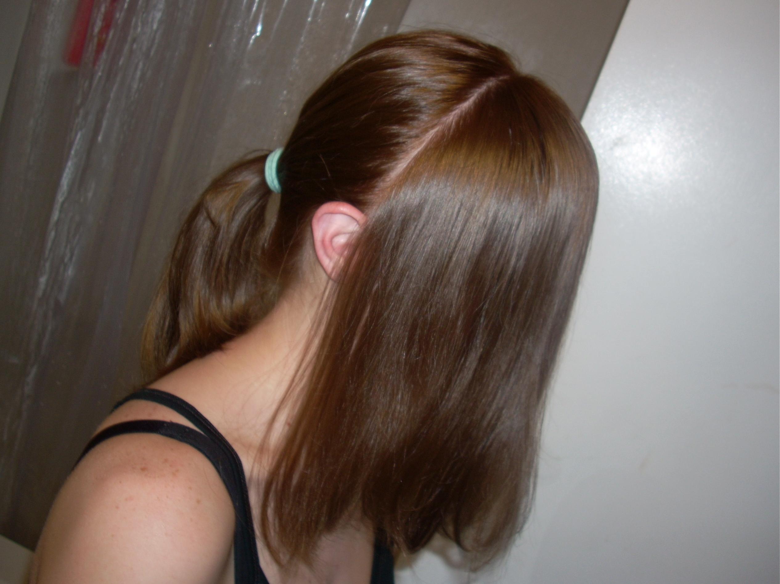 Corte de cabello con cola
