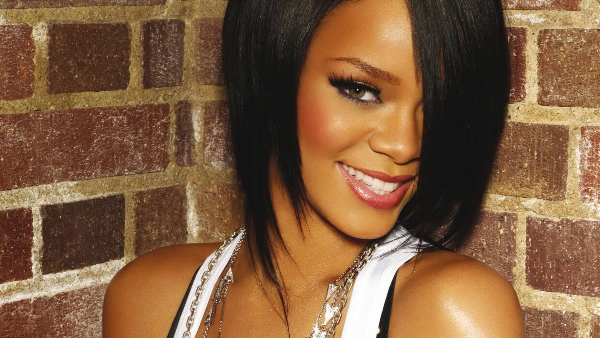 Wallpaper Long Hair Wall Black Hair Rihanna Girl Beauty