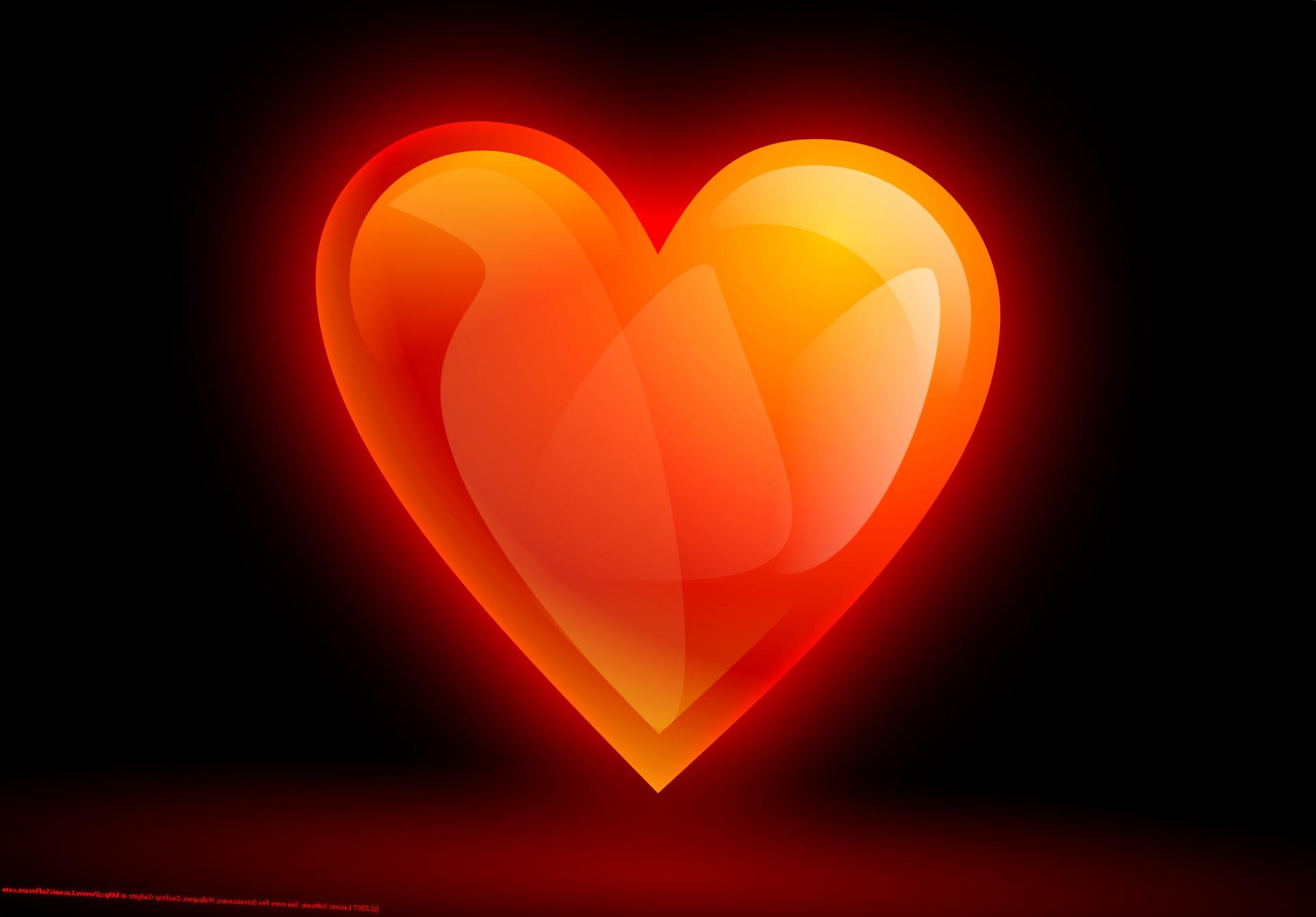 Wallpaper Love Heart Orange Valentine S Day Multicolor