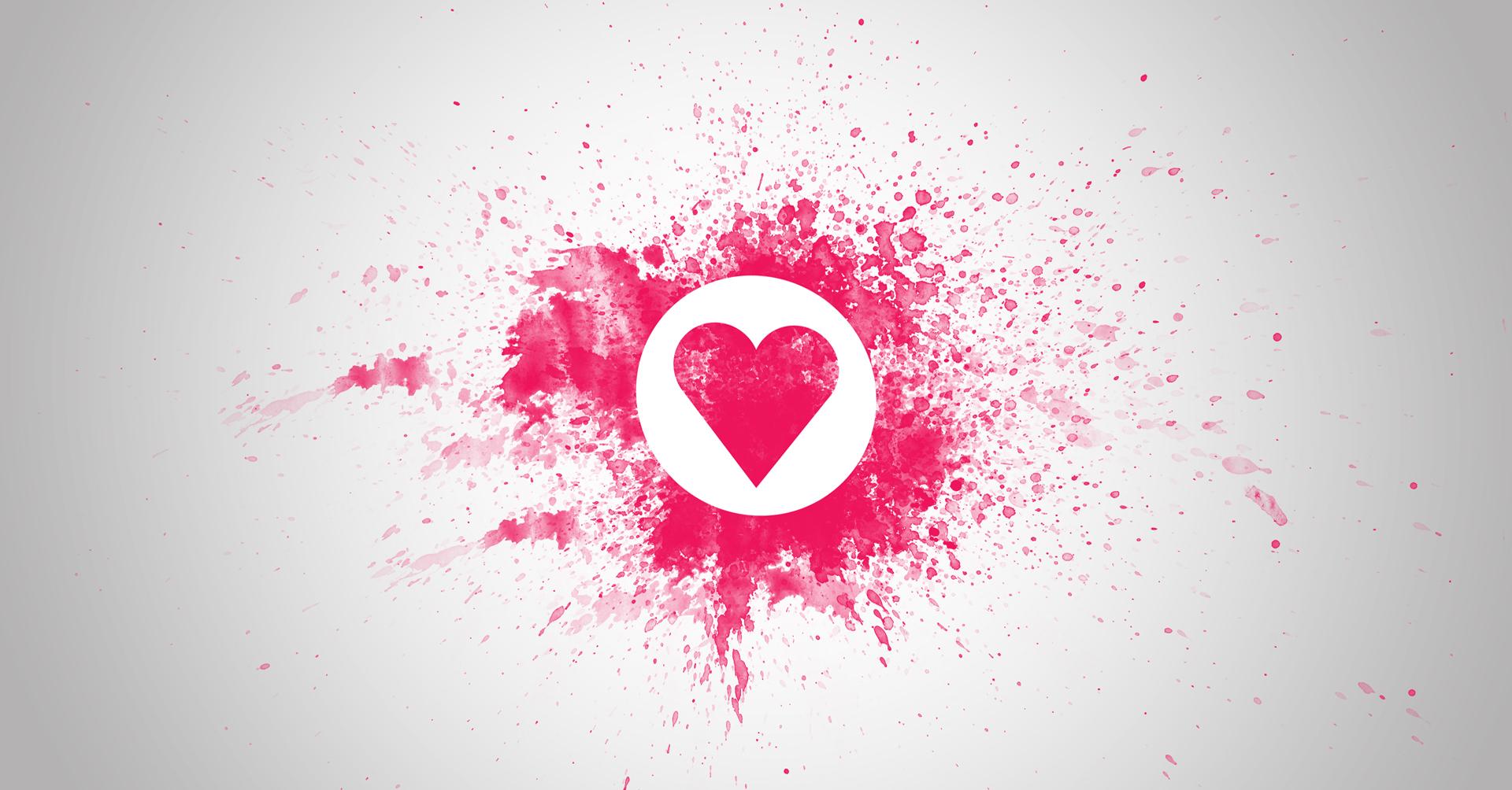 Fond d 39 cran amour c ur texte logo conception - San valentin desktop backgrounds ...
