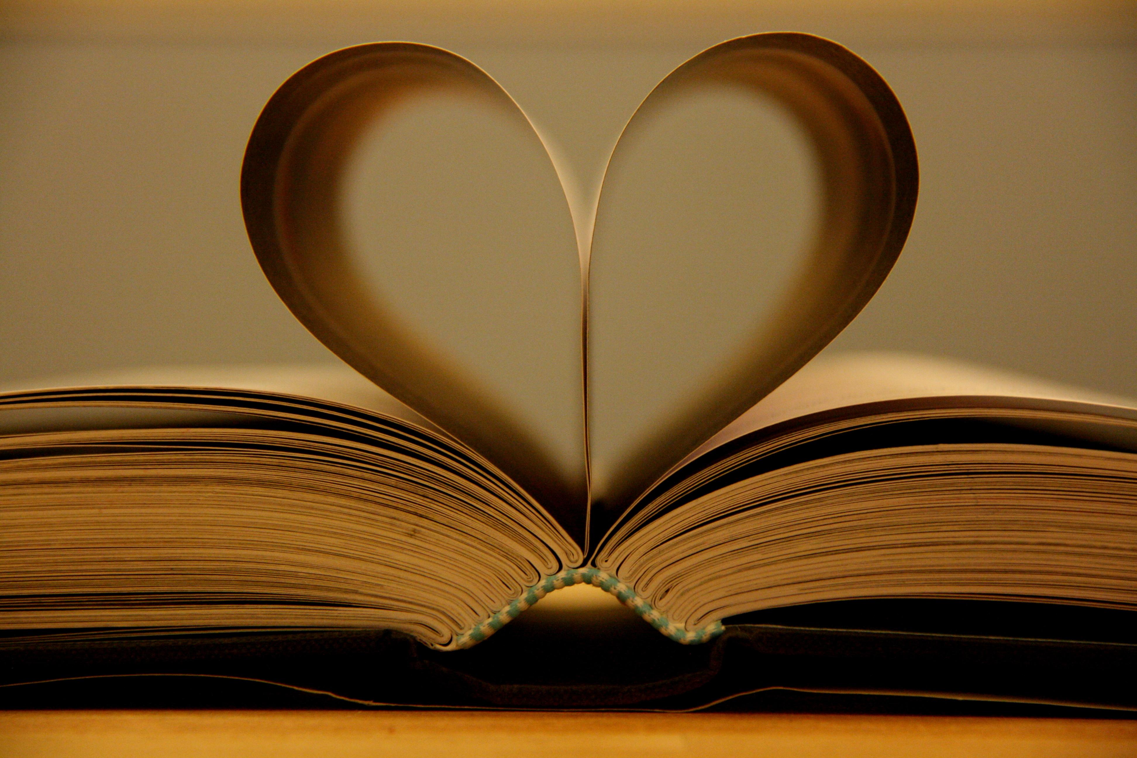 Wallpaper Love Heart Wood Book Still Life