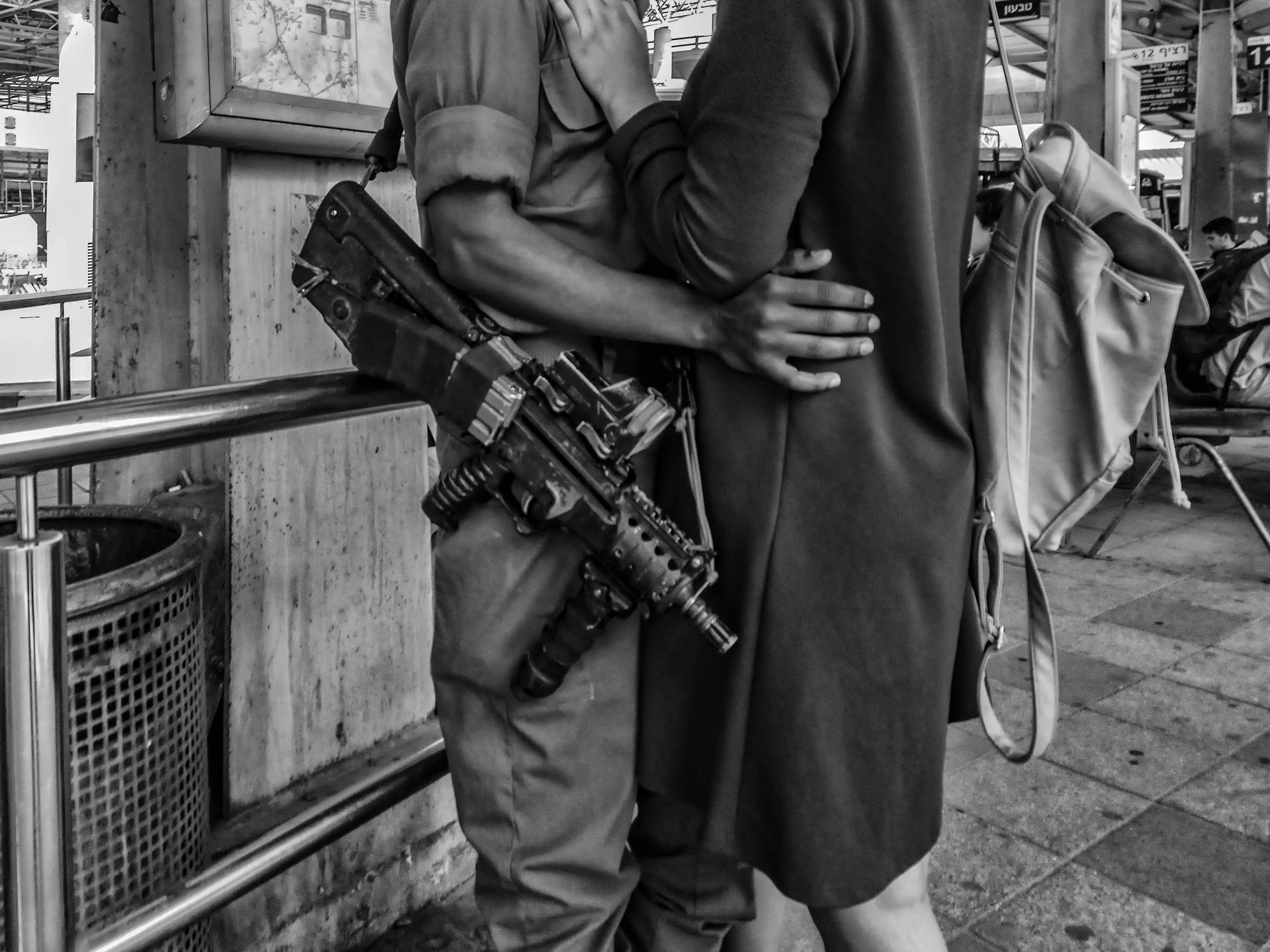 Wallpaper Love War Girl Soldier Hands Street