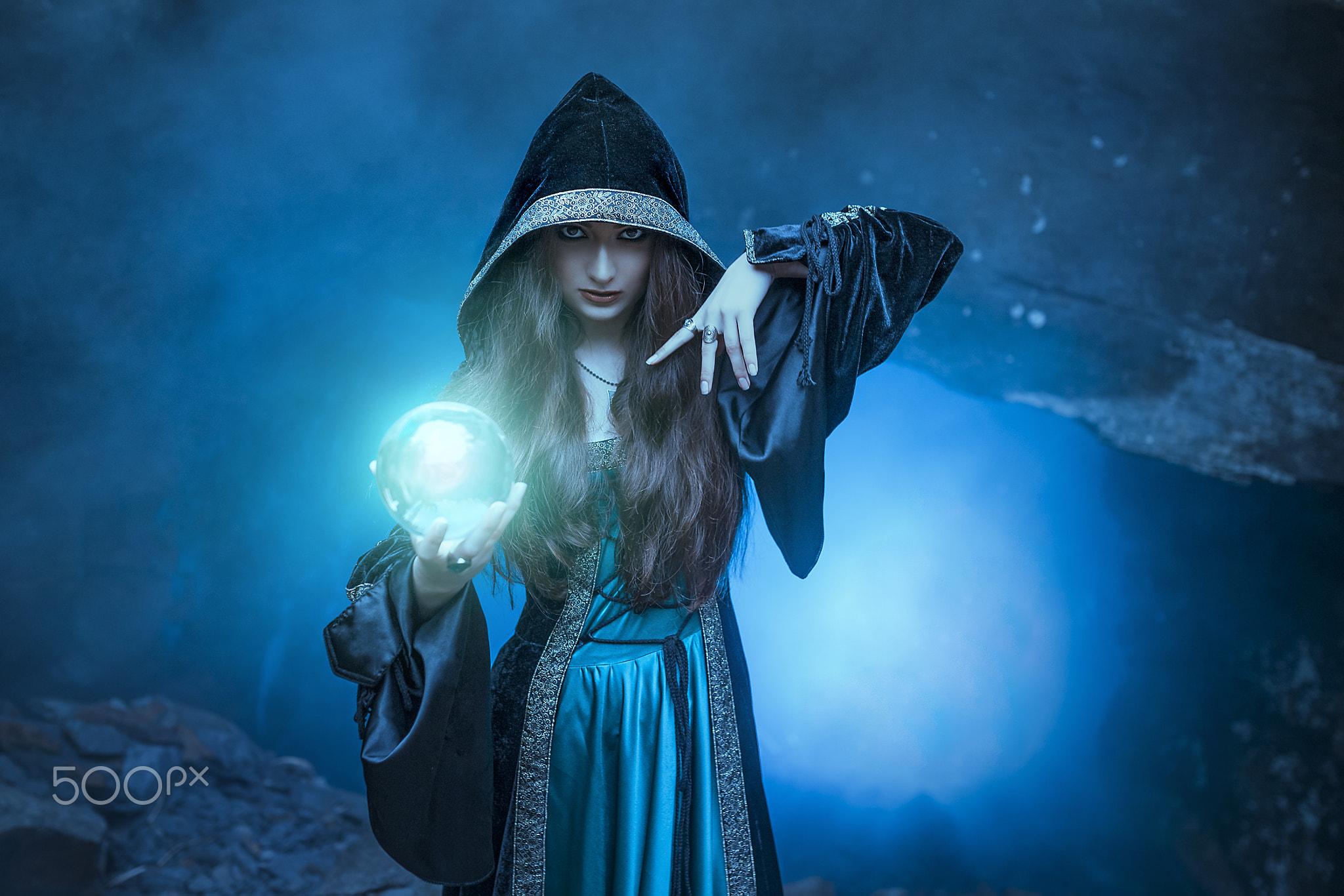 Wallpaper Magic 500px Fantasy Girl Women Blue Model Hoods