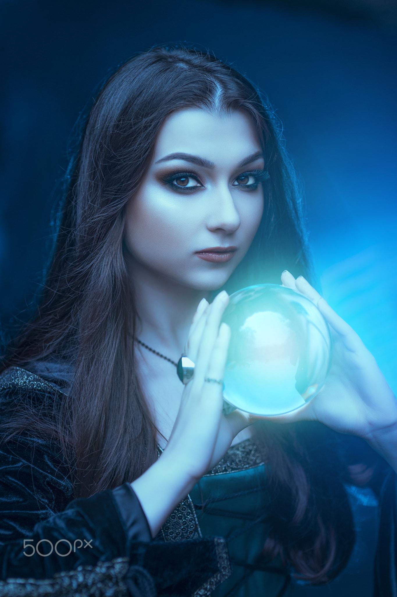 Wallpaper Magic 500px Fantasy Girl Women Blue Model