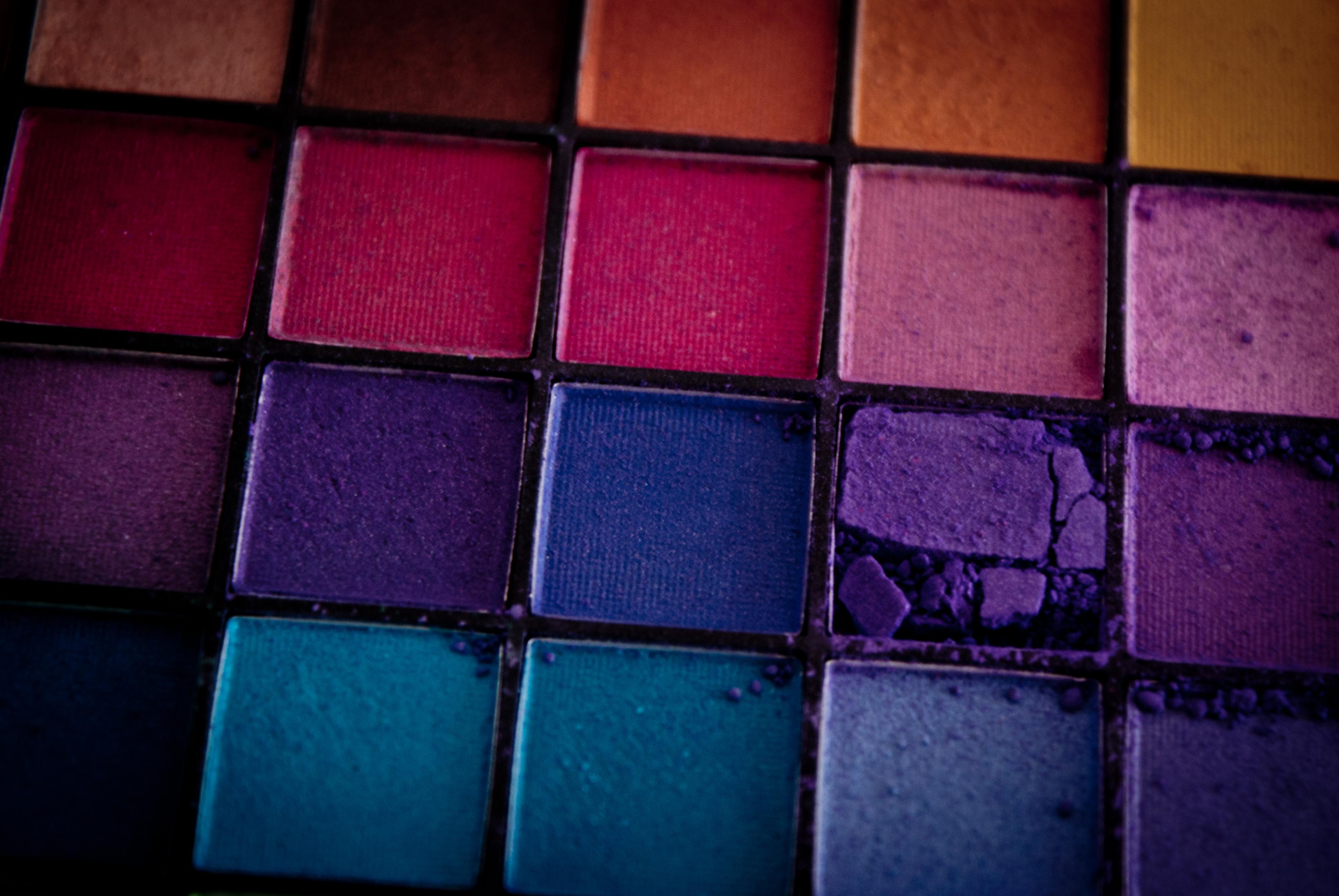 fond d u0026 39  u00e9cran   maquillage  violet  sym u00e9trie  jaune  bleu  mod u00e8le  orange  texture  carr u00e9  rose