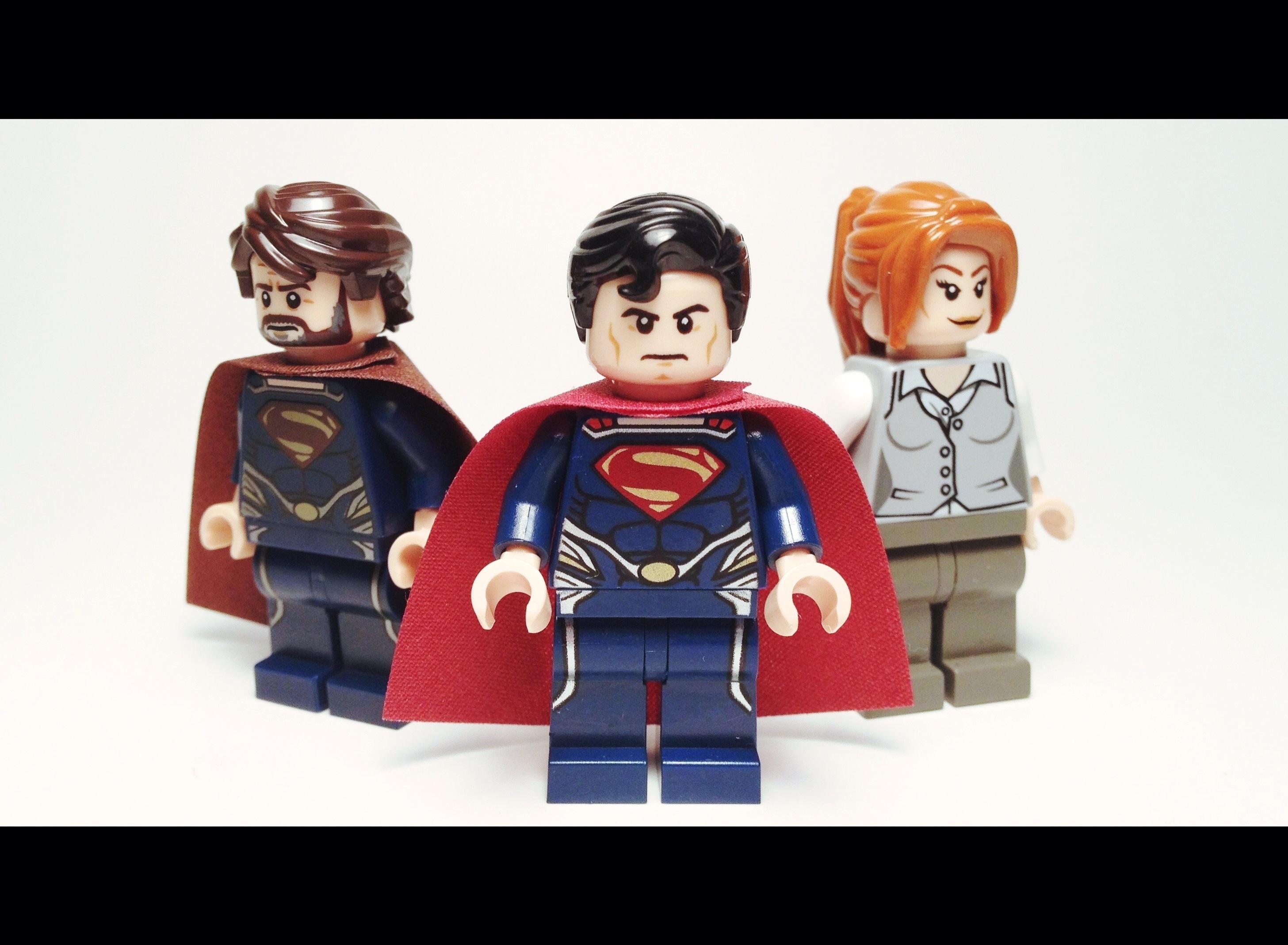 Wallpaper Man Lego Steel Superman Minifigs Custom Loislane