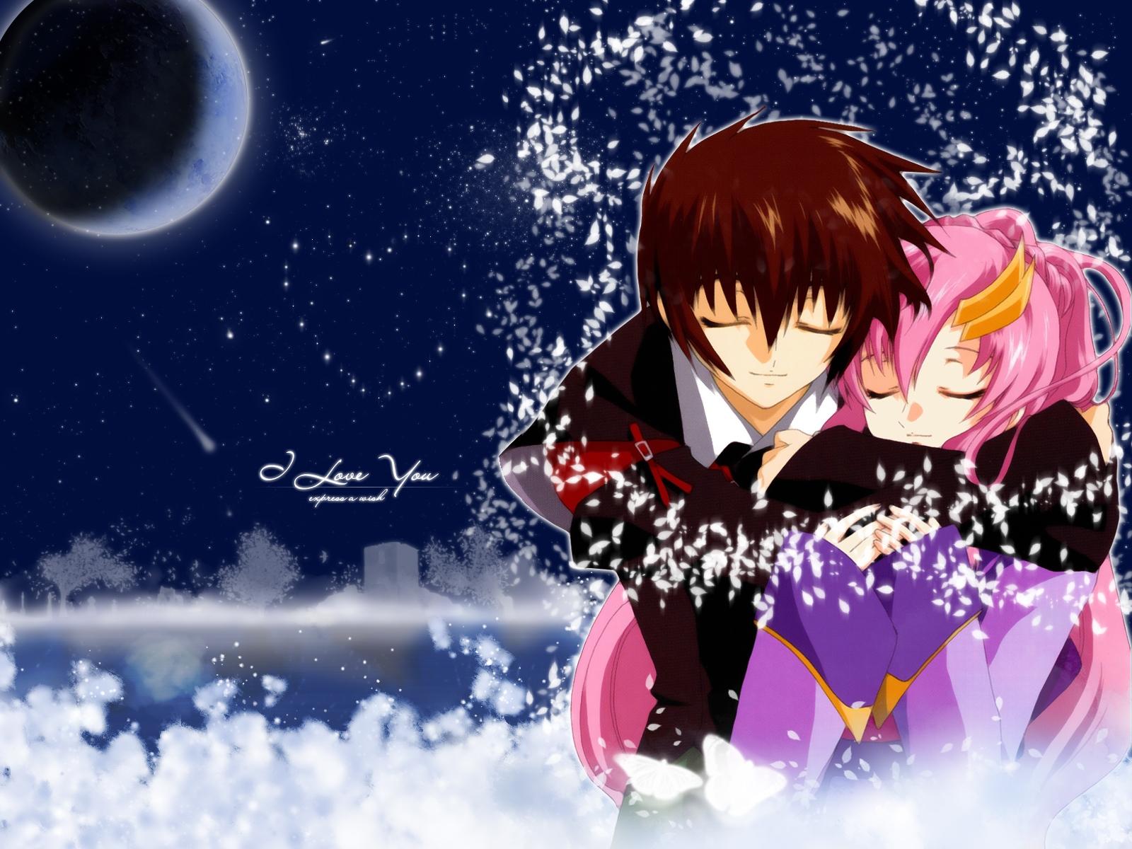 Man Woman Affection Hug I Love Snow