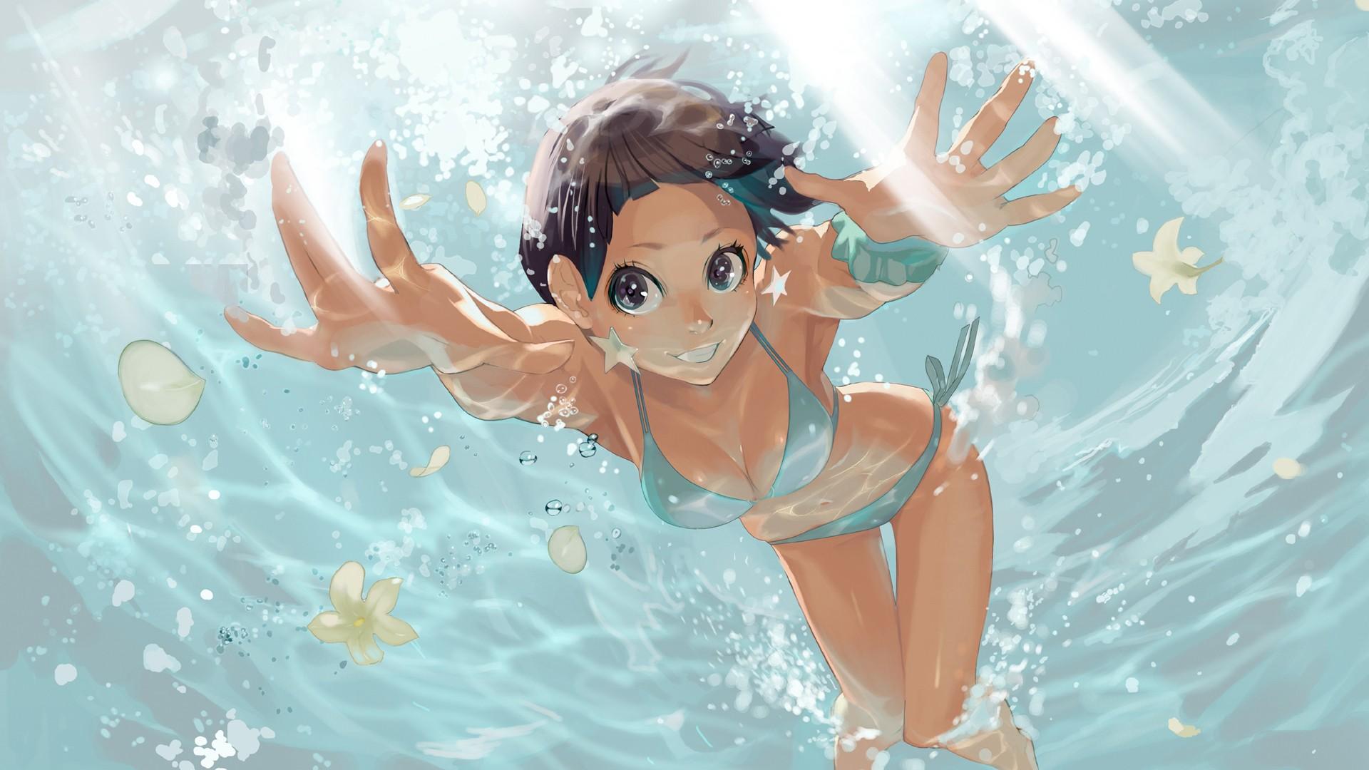 Wallpaper Manga Underwater Ecchi Computer Wallpaper