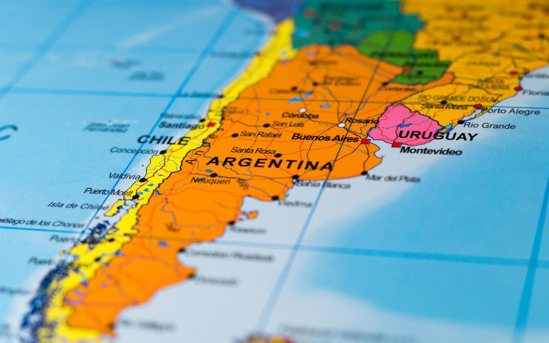 Hintergrundbilder Karte Argentinien Chile Uruguay Sudamerika